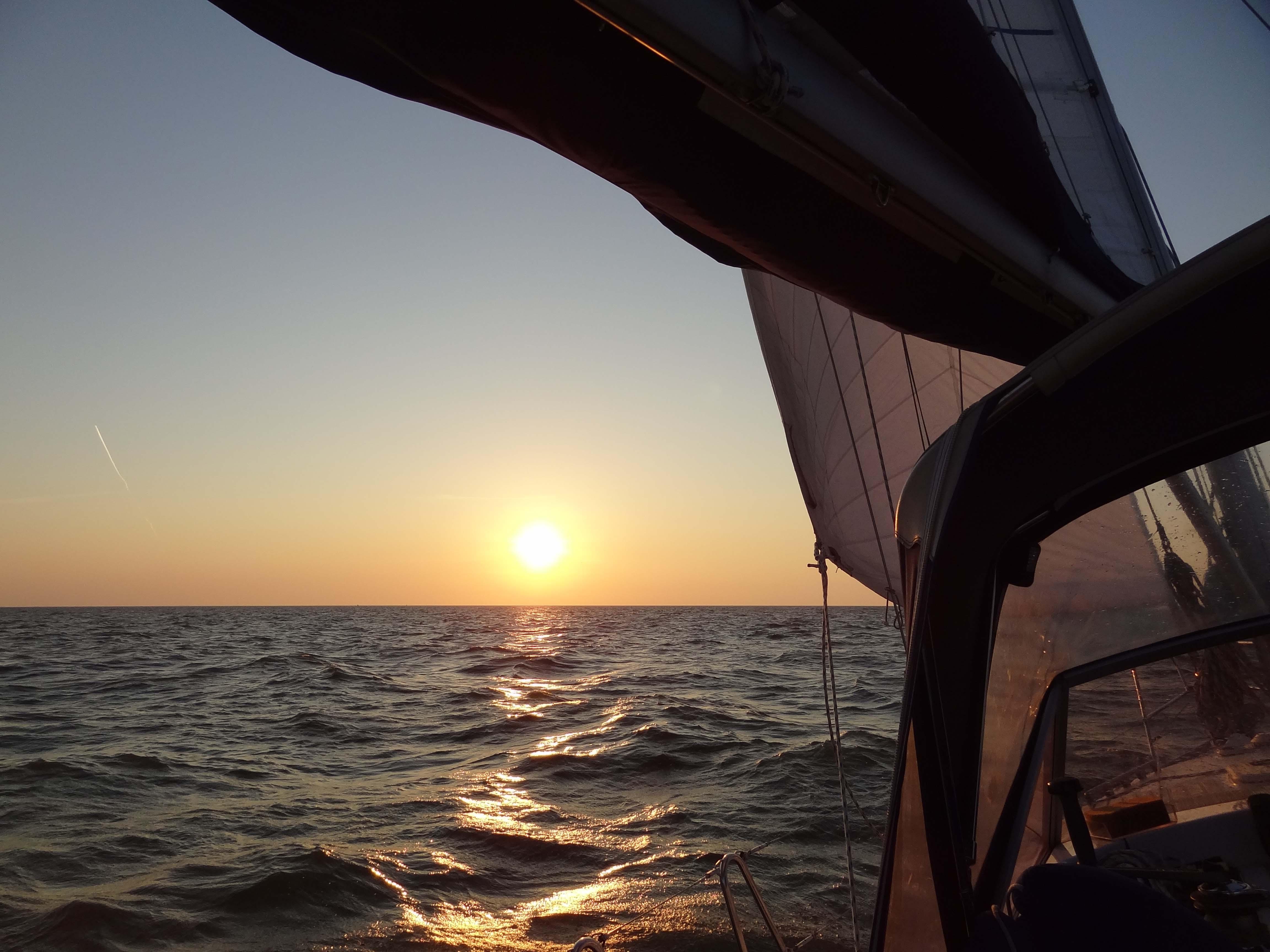 Sonnenuntergang auf dem Weg nach Stavoren