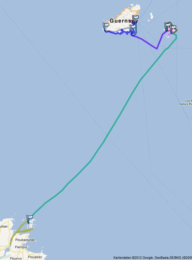 2012-07-18 Track Guernsey-Lezardrieux