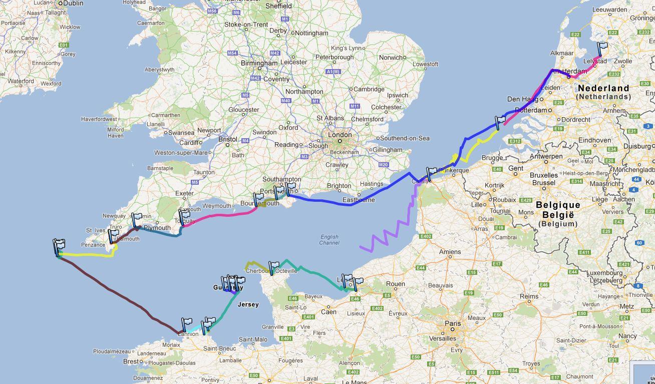 2012-07-07 bis 2012-08-14 Gesamttrack bis Amsterdam