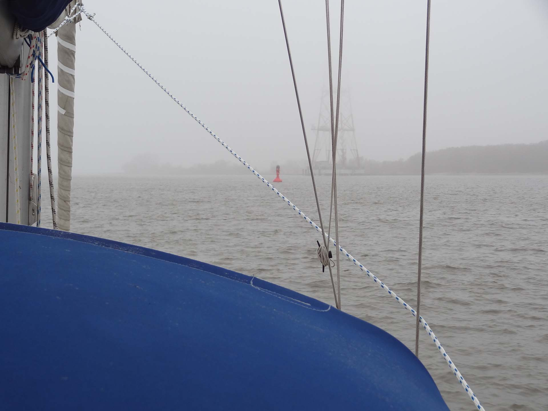 Oben Nebel - unten Wasser