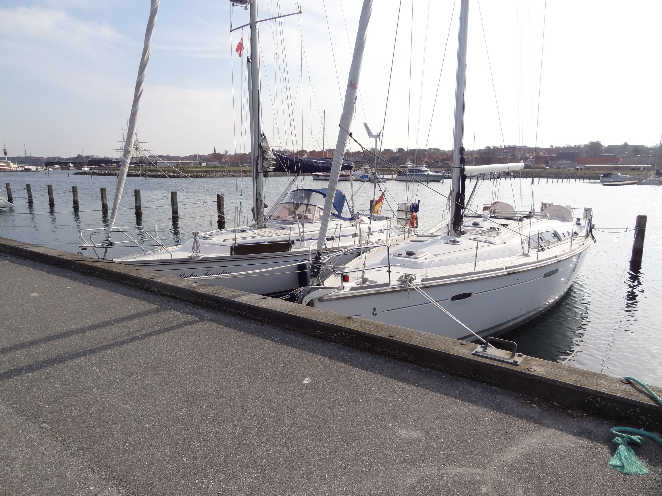 Leerer Hafen in Ebeltoft