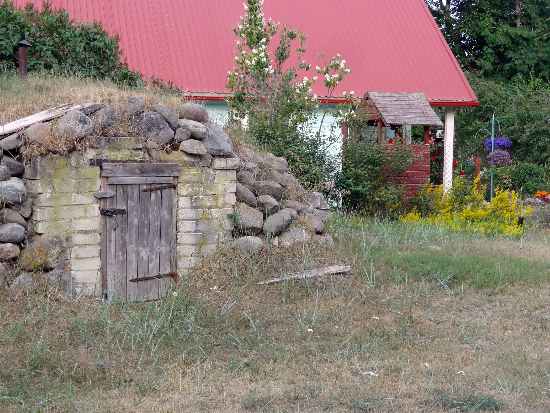 Holzhäuser auf Prangli