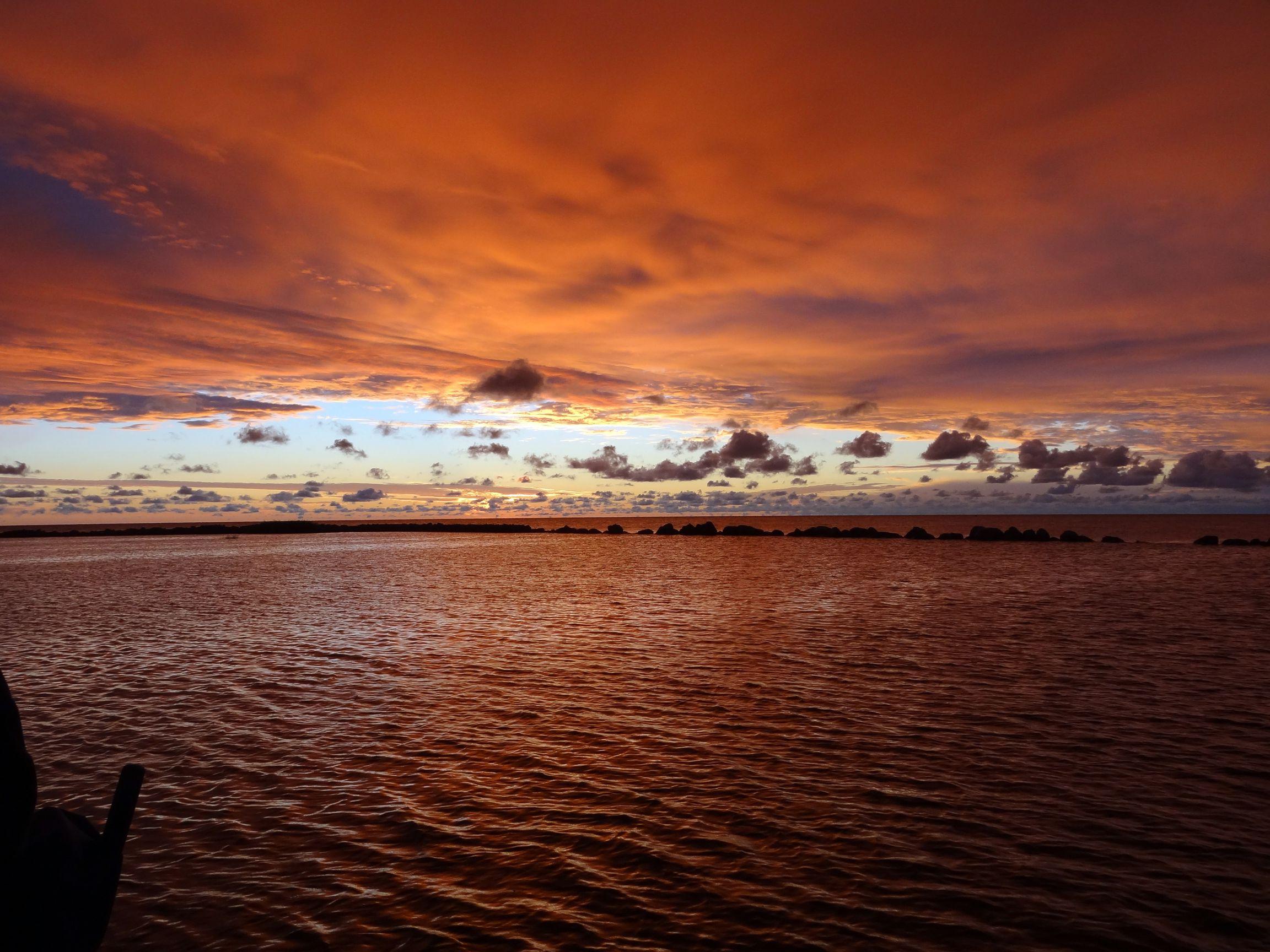 Sonnenuntergang in Vergi