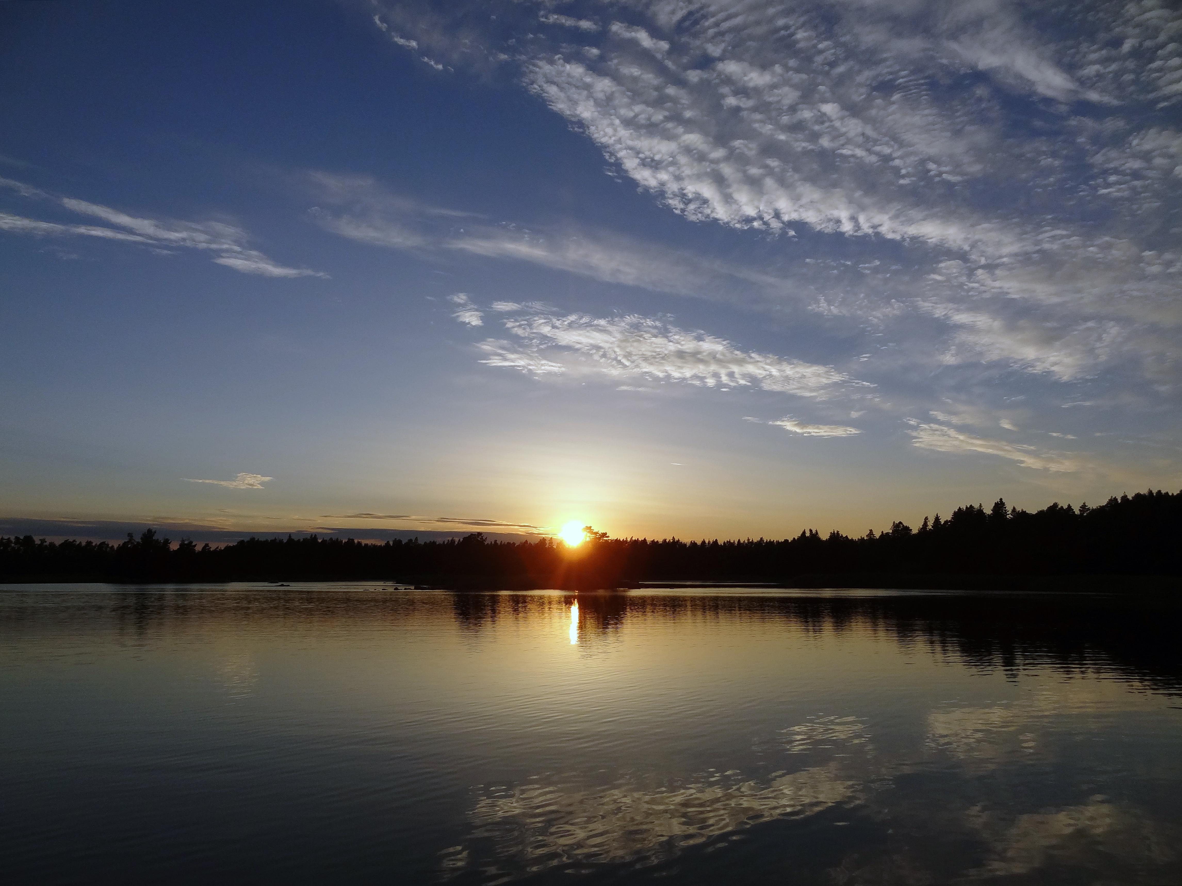 Sonnenuntergang in Grundfjärden