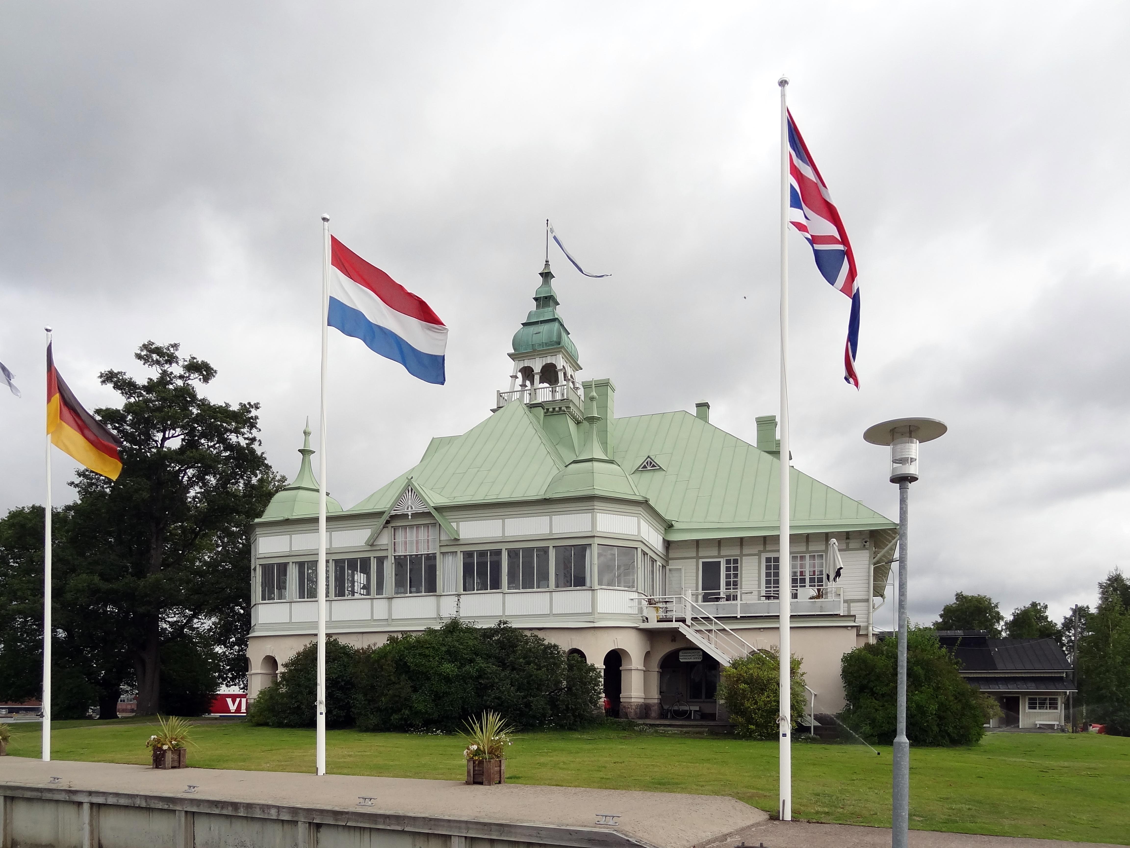 Clubhaus auf Blekholmen