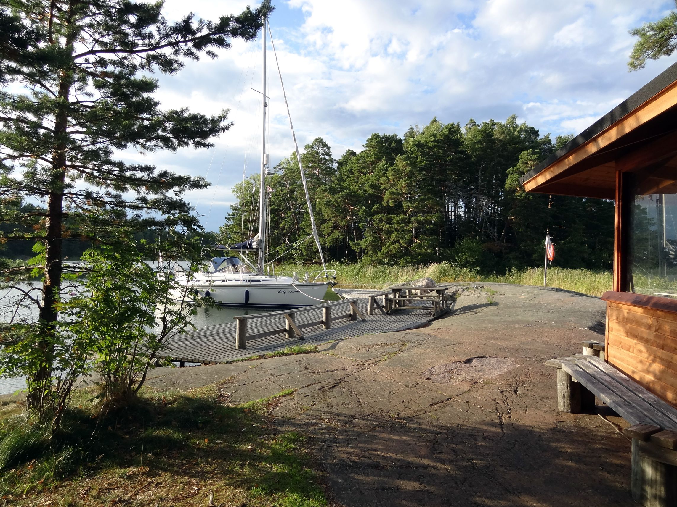 Anlegesteg auf Linlö