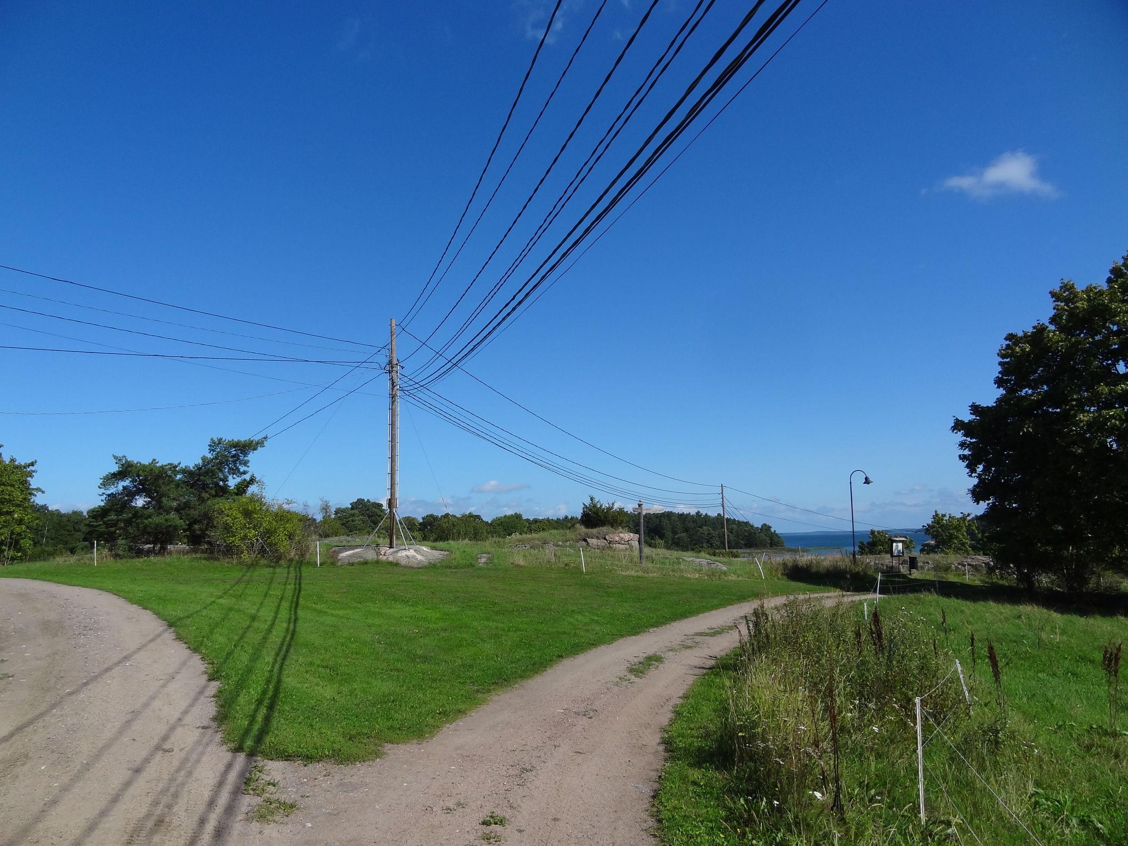 Elektroinstallationen auf Seili