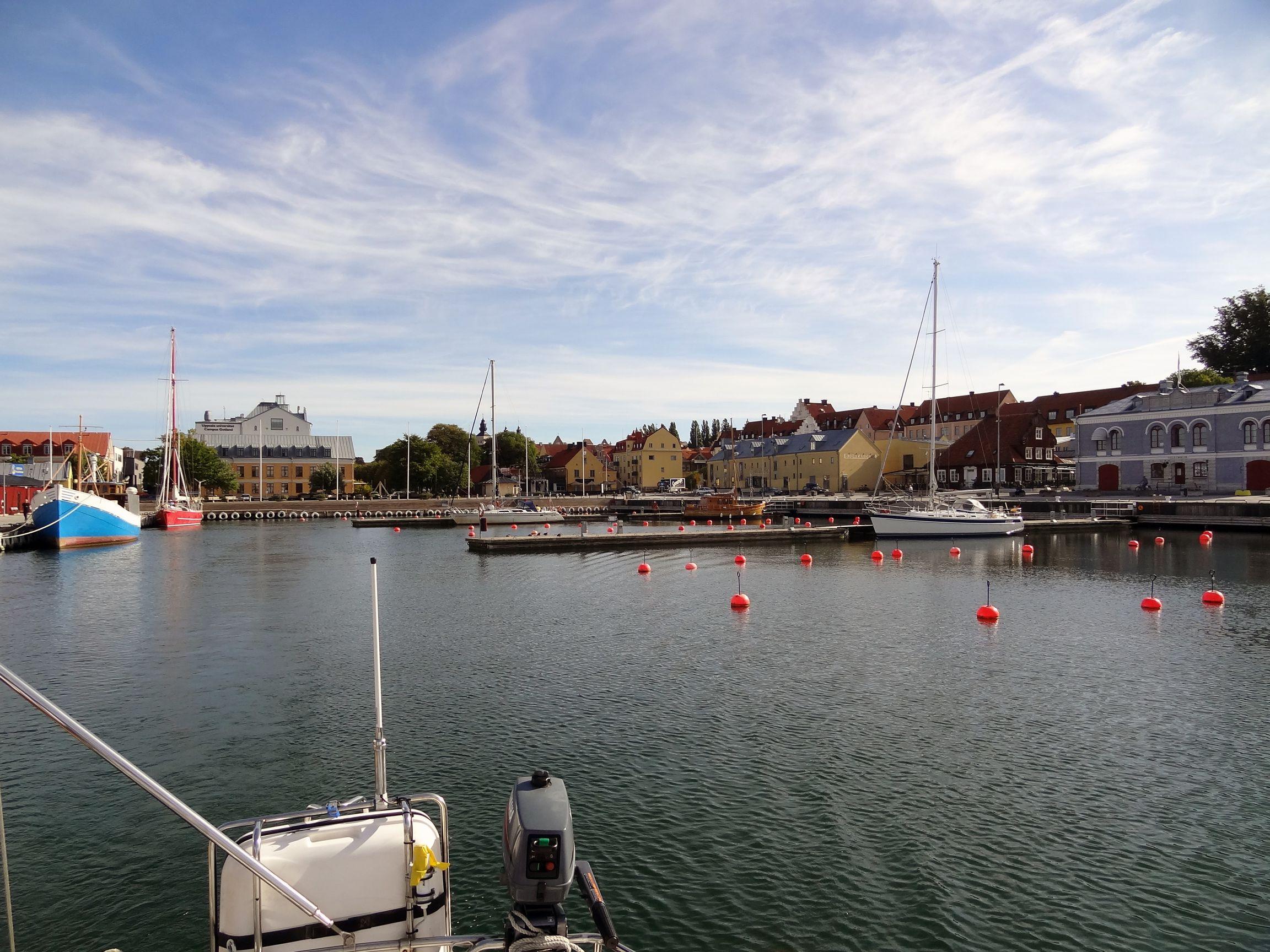 Blick zurück nach Visby