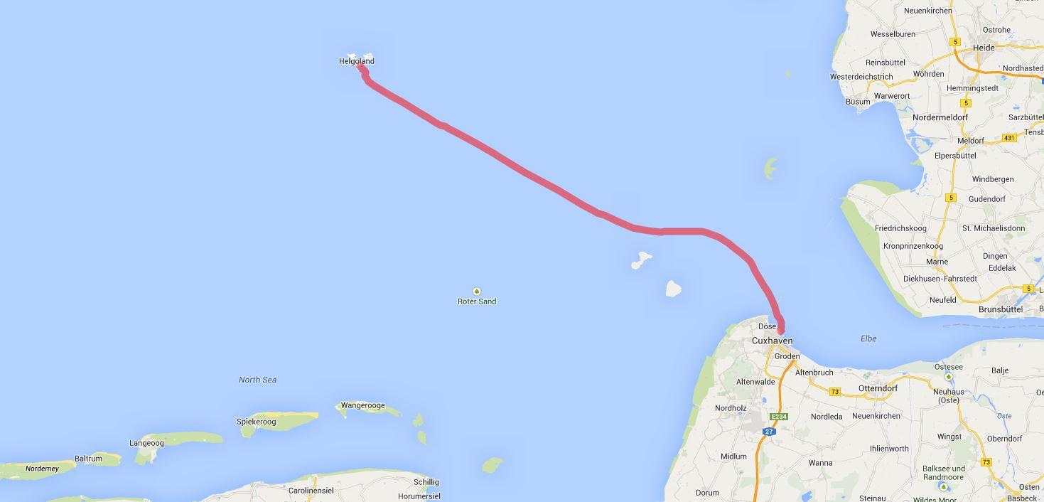 Cuxhaven - Helgoland