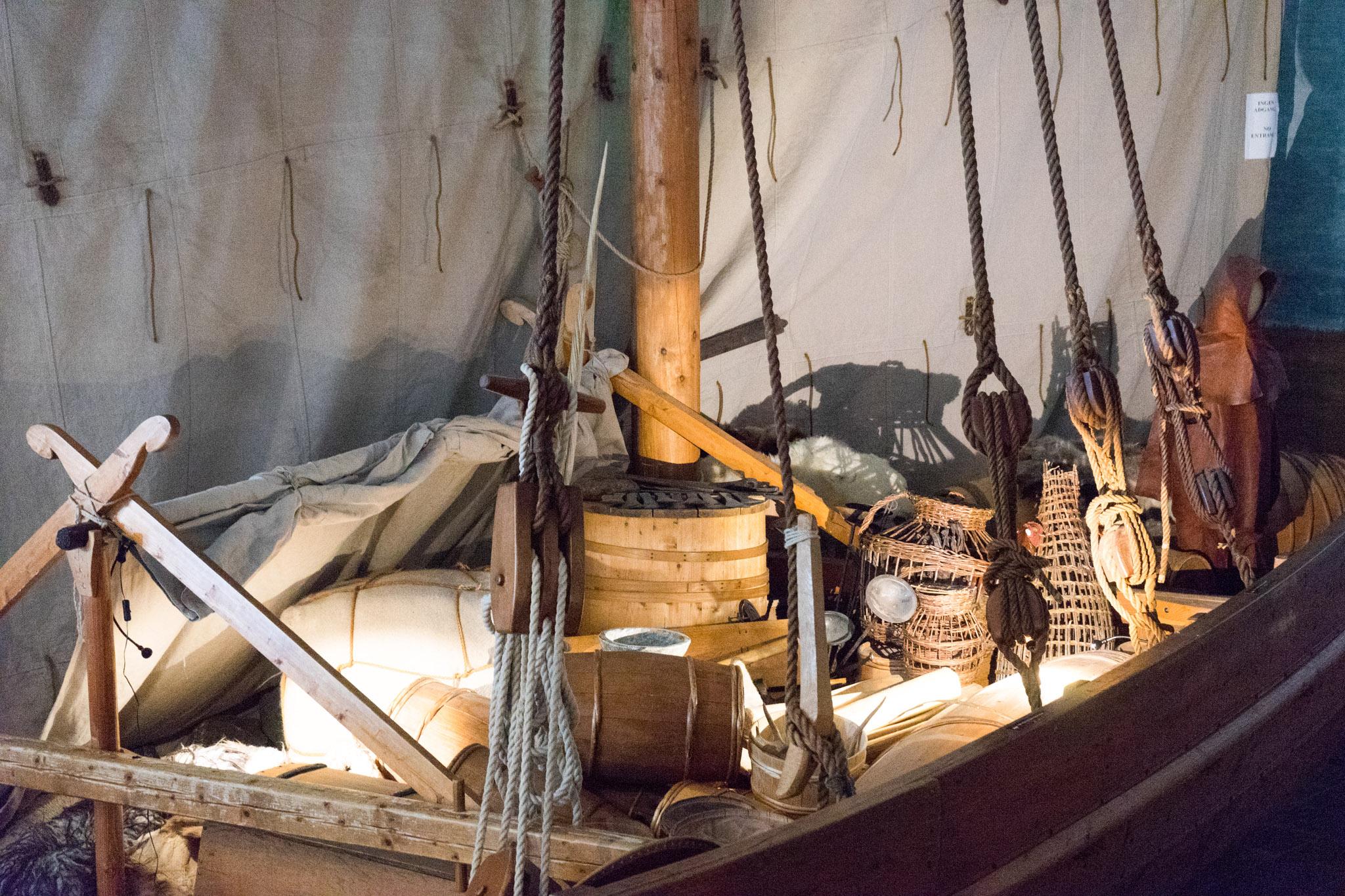 Nachbau eines Wikingerschiffes