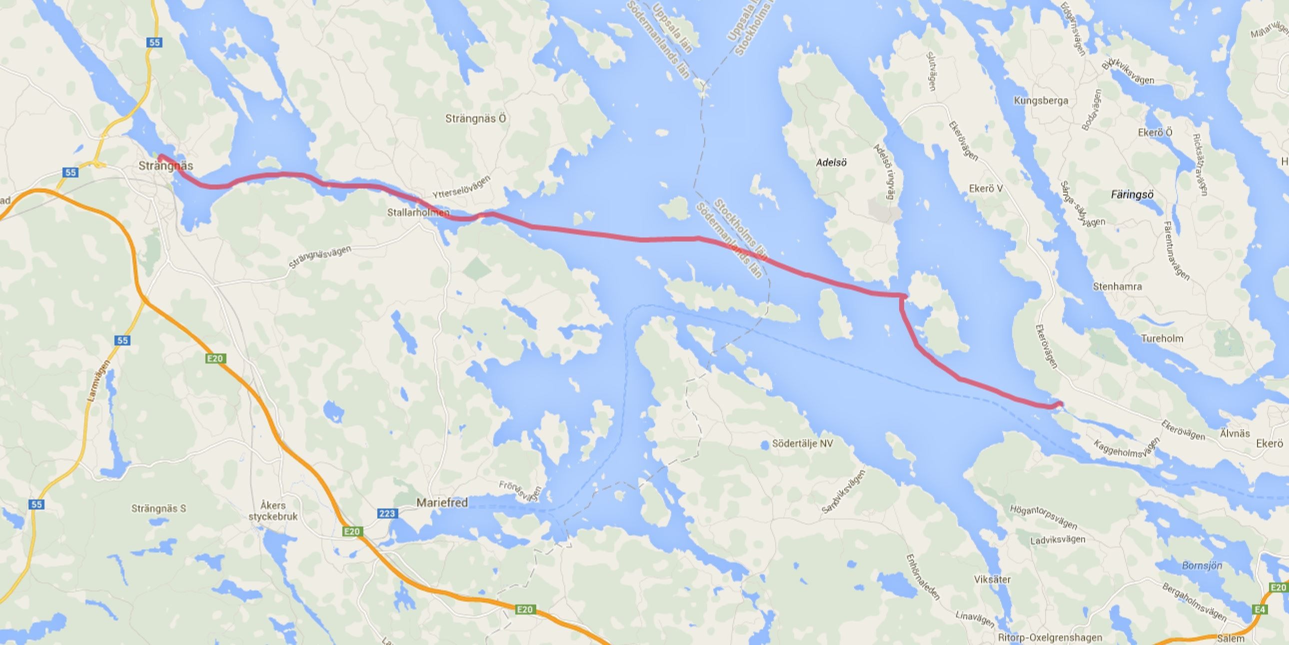 Rastaholm - Björkö - Strängnäs