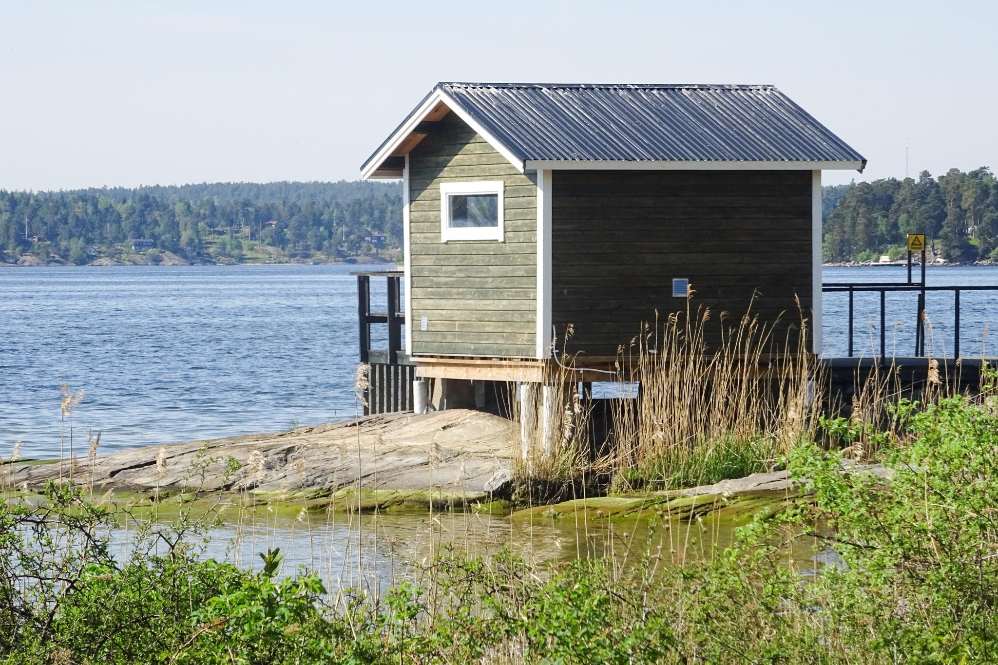 Sauna am Wasser