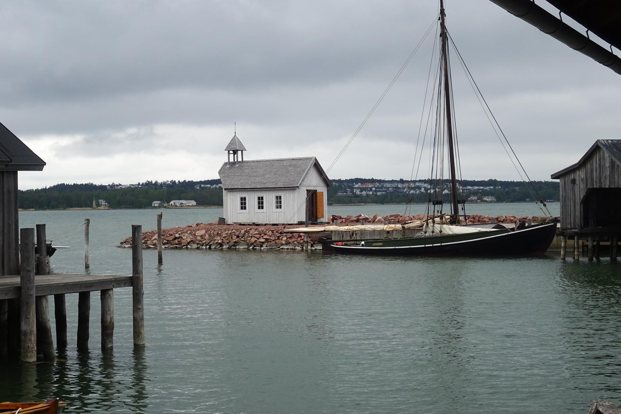 Museumshafen auf der Ostseite von Mariehamn