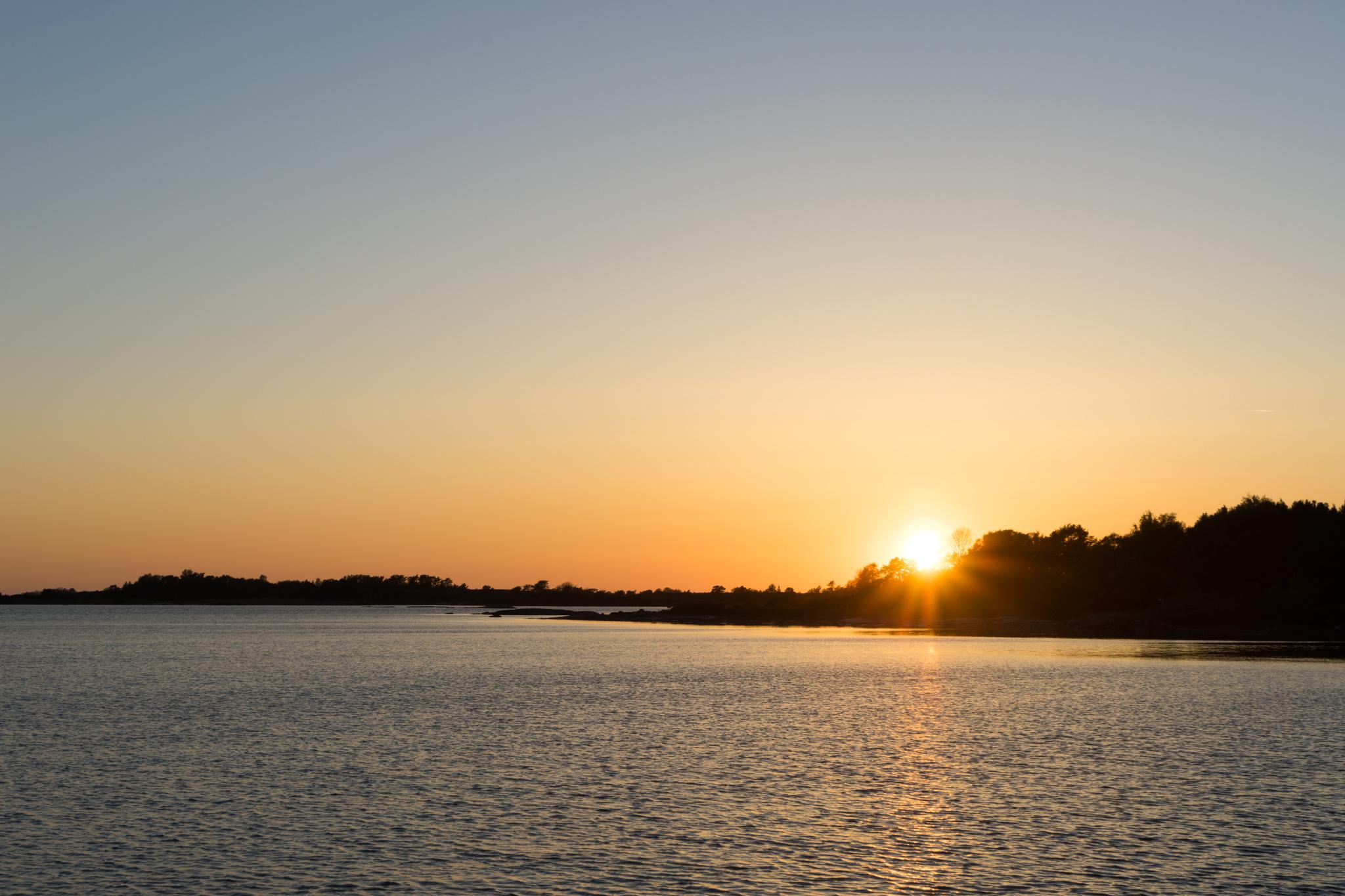 Sonnenuntergang um 22:30 Uhr
