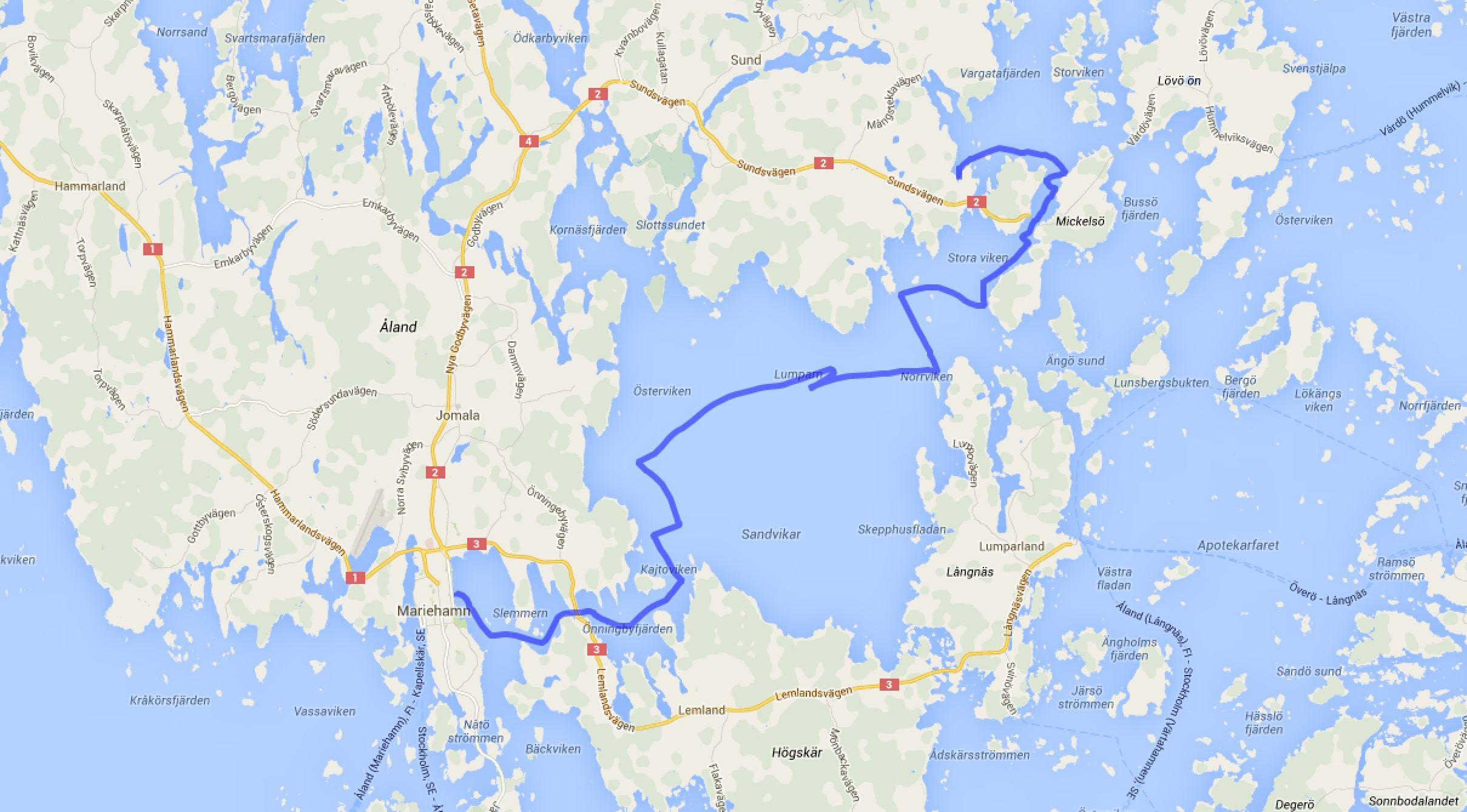 Bomarsund - Mariehamn