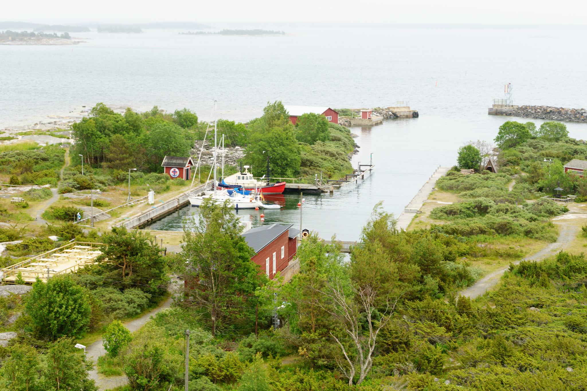 Hafen vom Leuchtturm aus gesehen