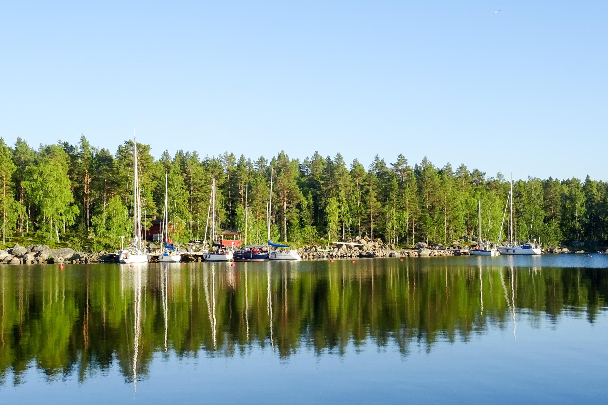 Außenanlage eines Finnischen Segelclubs