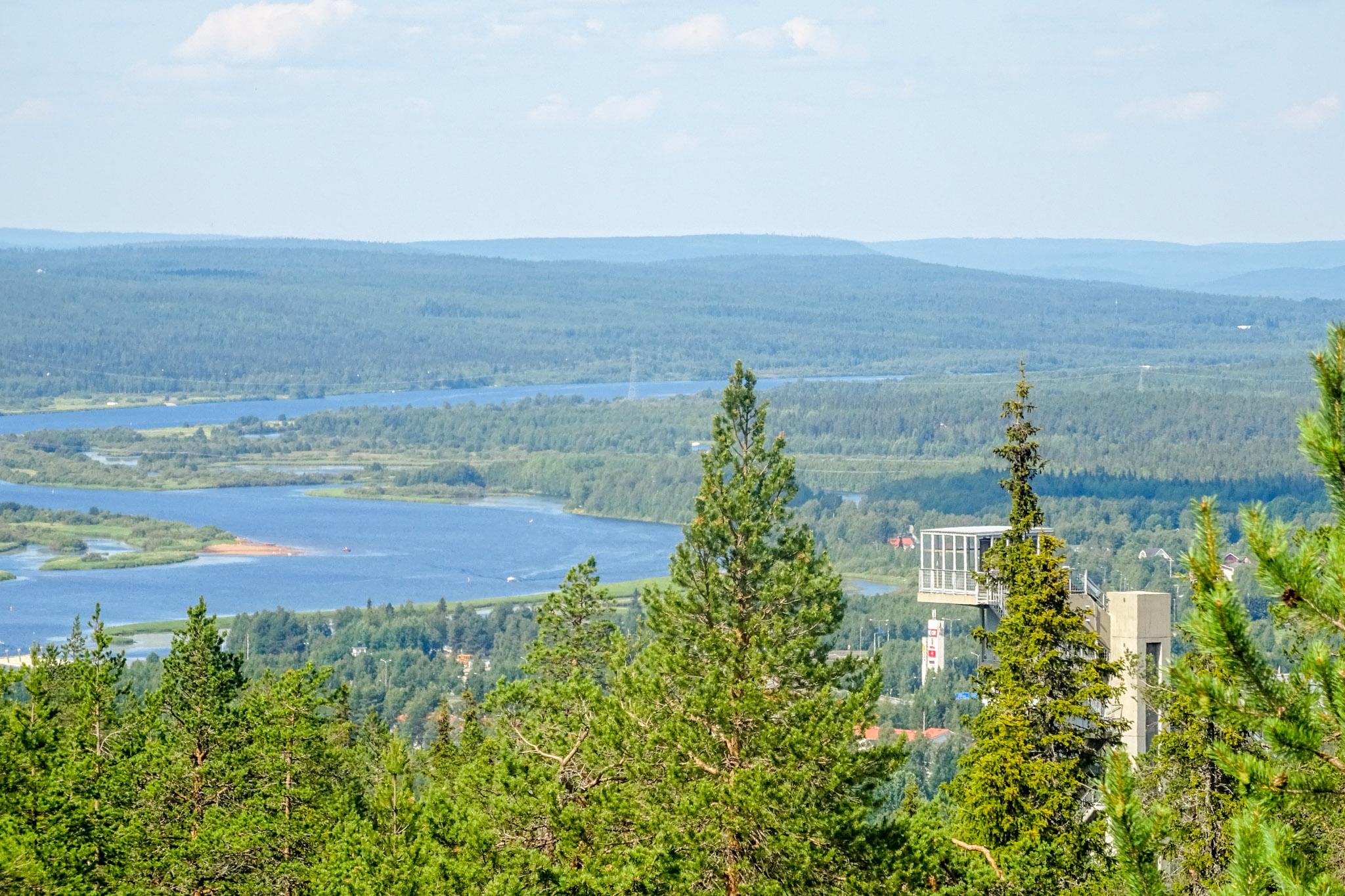 Blick auf den Ounasjoki