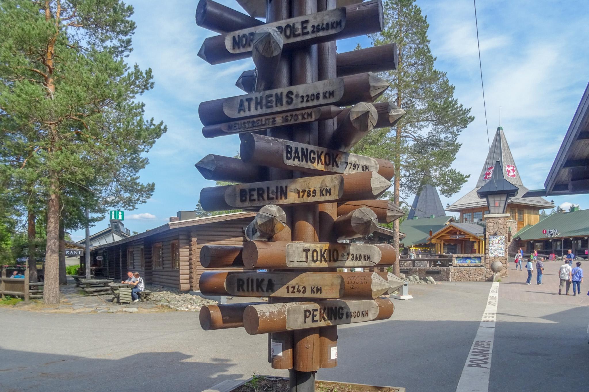 Entfernungsbaum am Polarkreis