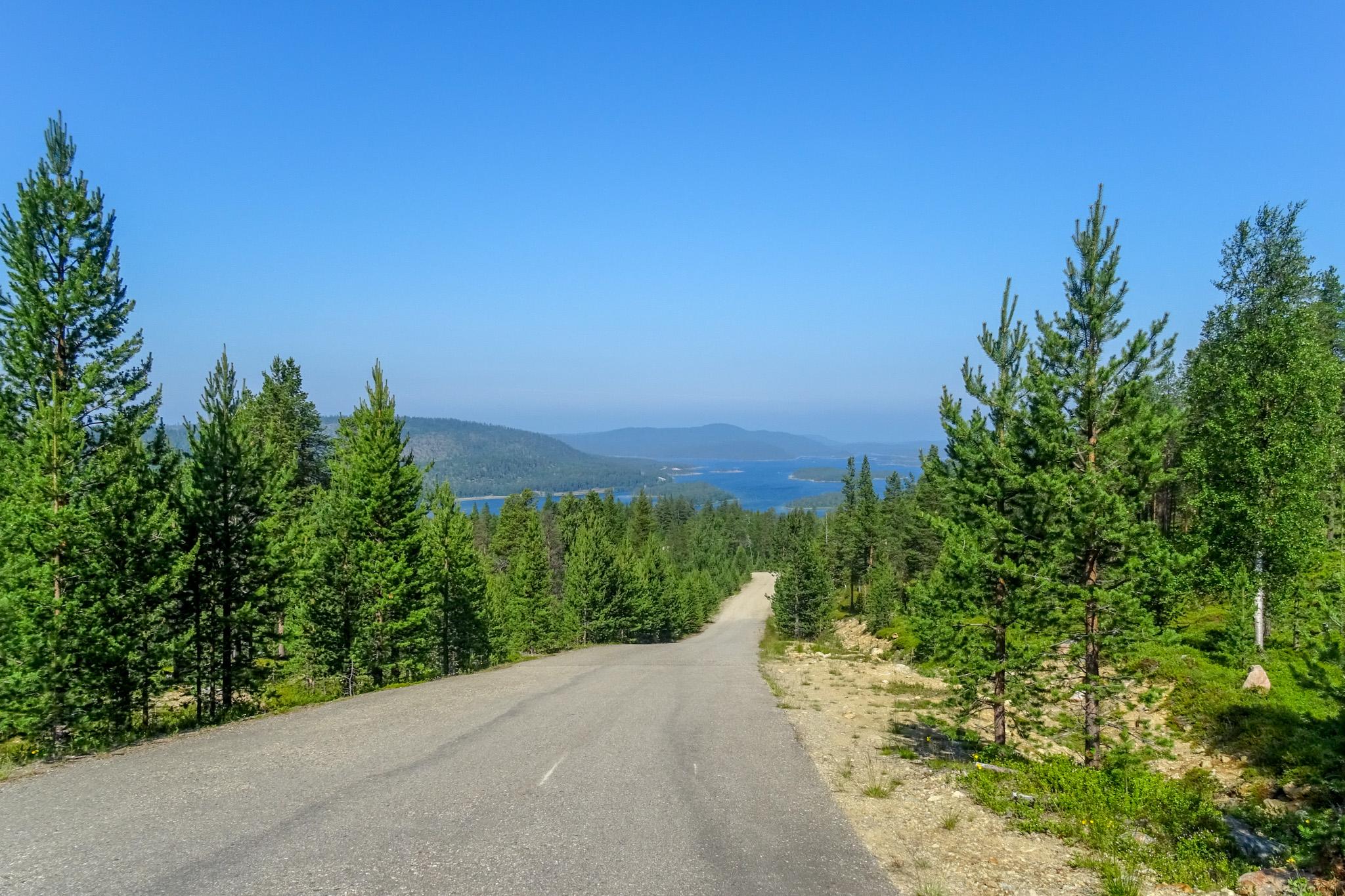 Blick auf den Inari-See