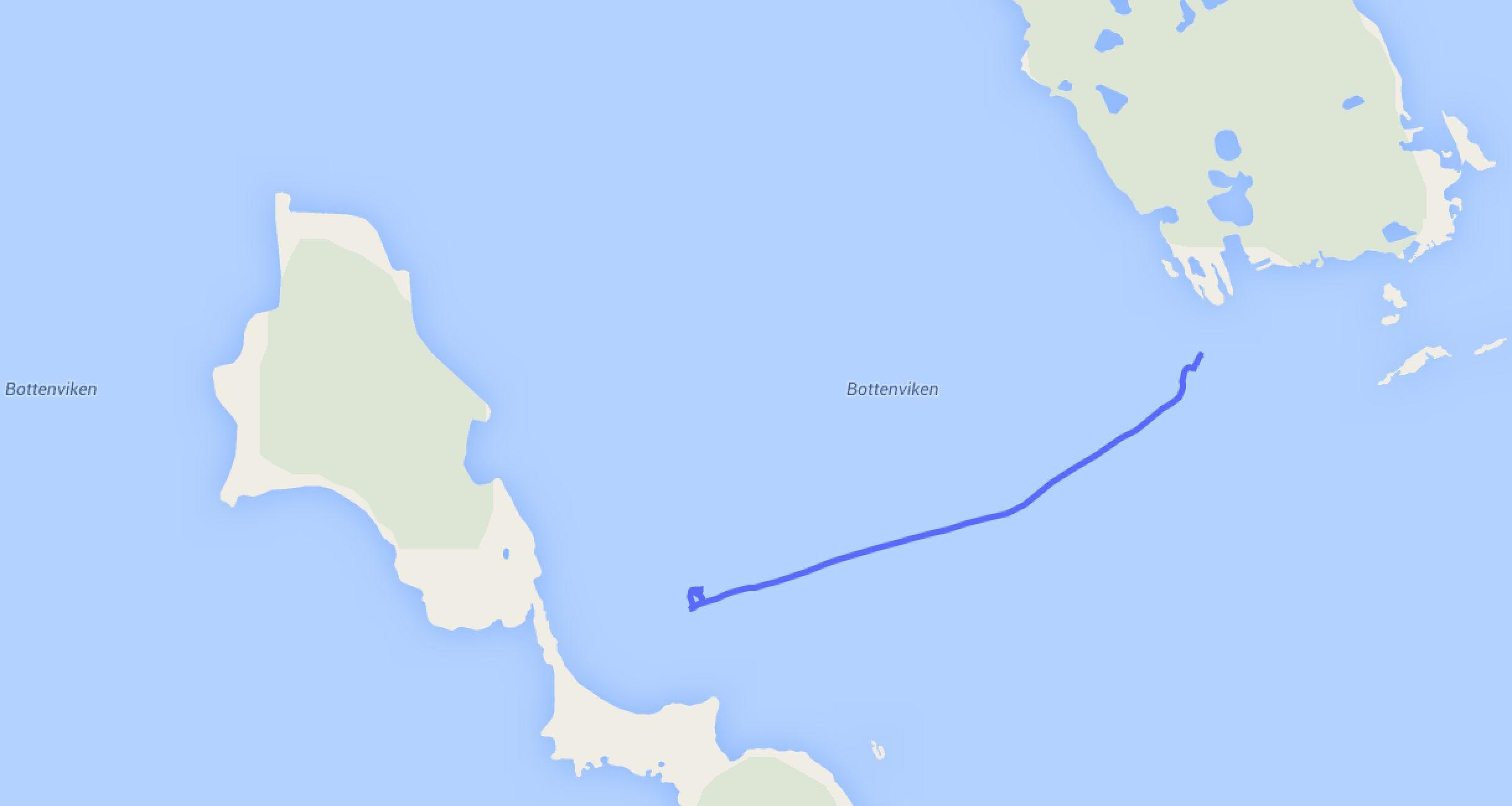 Umankern von Hamnön nach Skogssk
