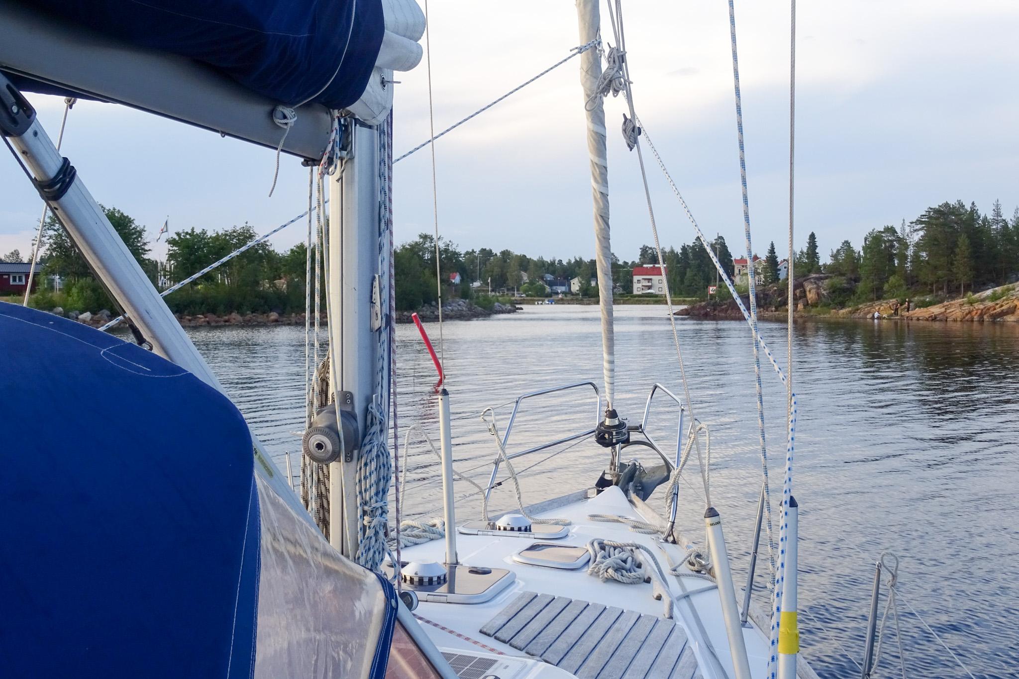 Hafeneinfahrt Skelleftehamn