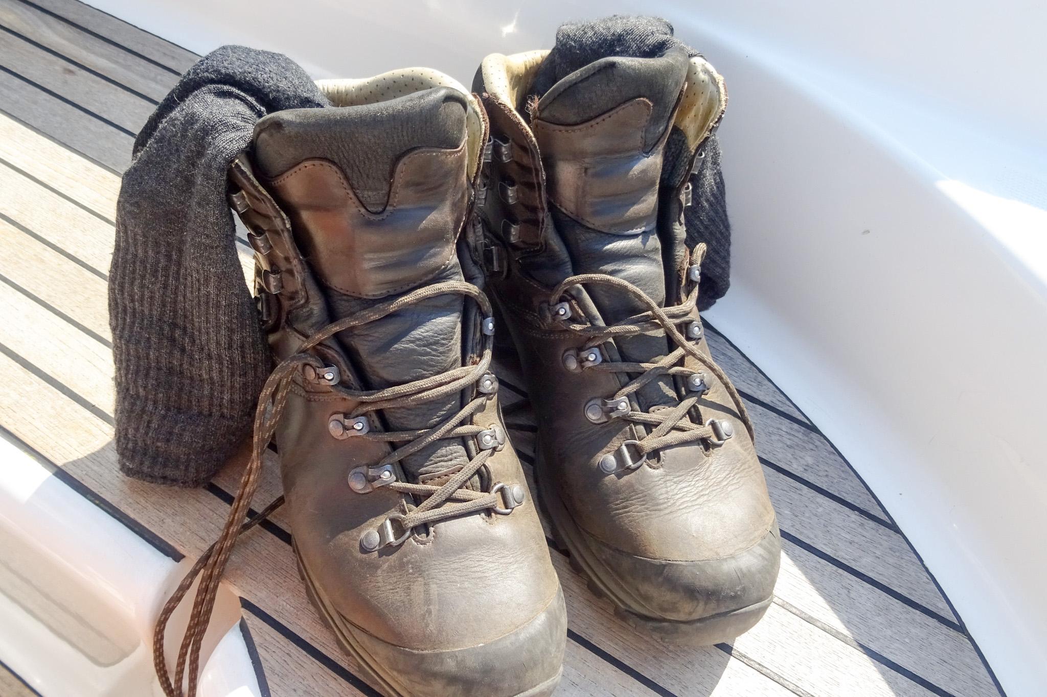 Heute: Wandern bis die Socken qualmen