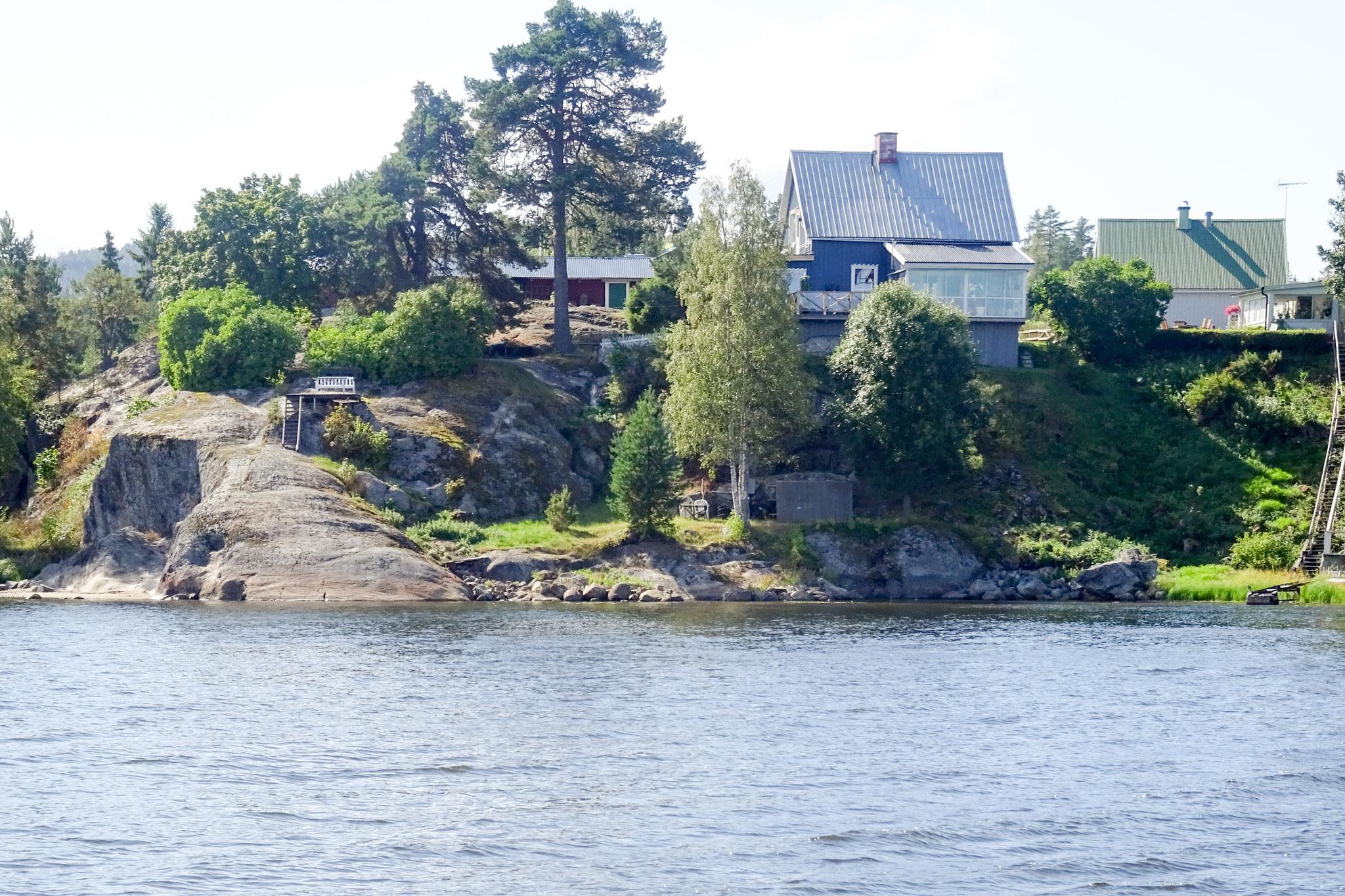 Sommerhäuser im Fjord