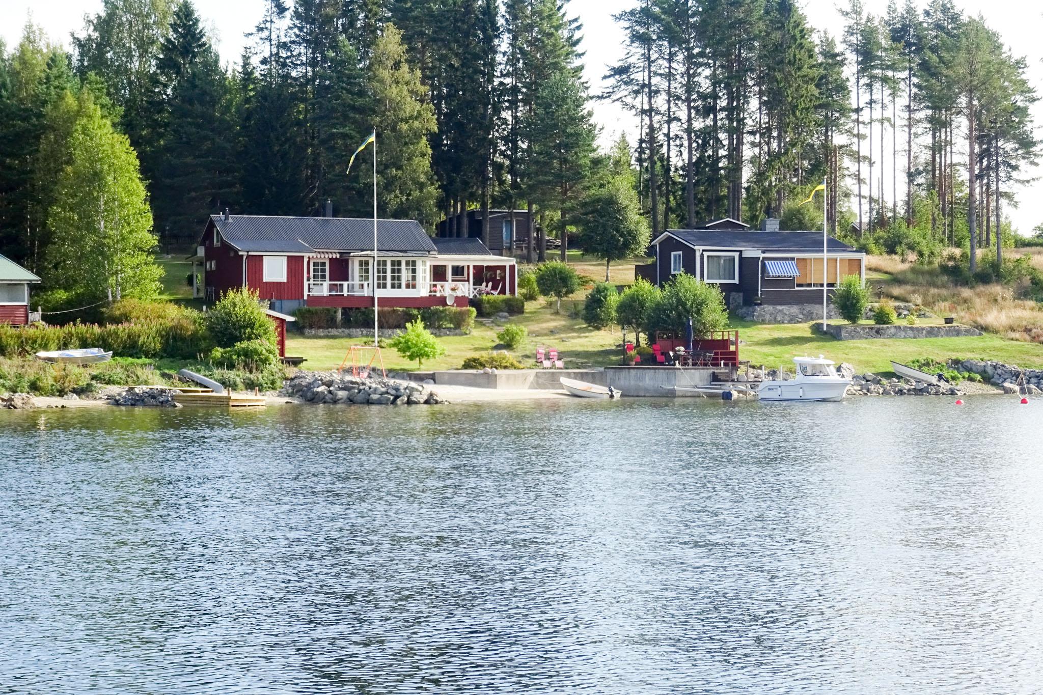 Sommerhäuser in der bucht