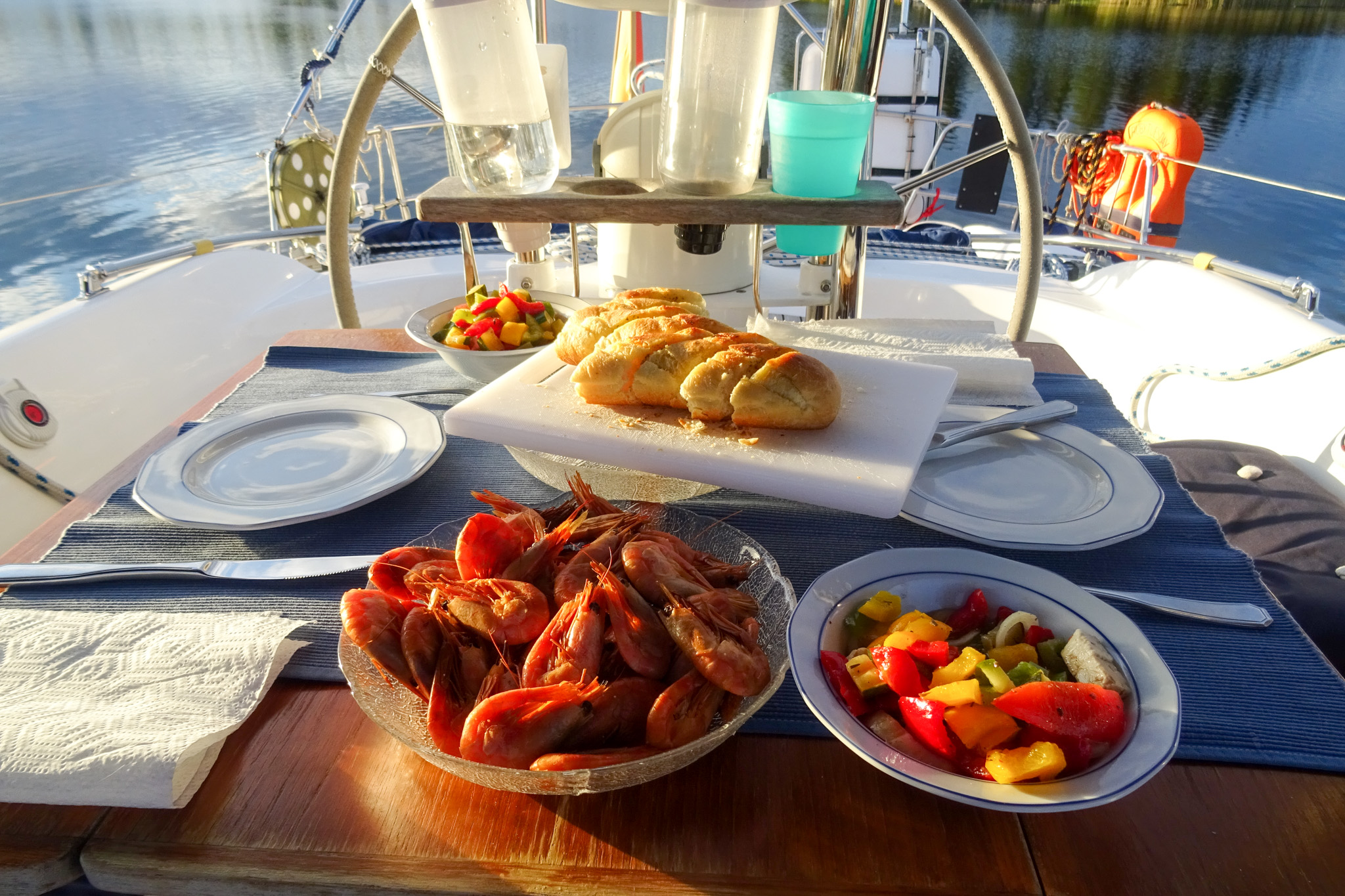 Geräucherte Shrimps