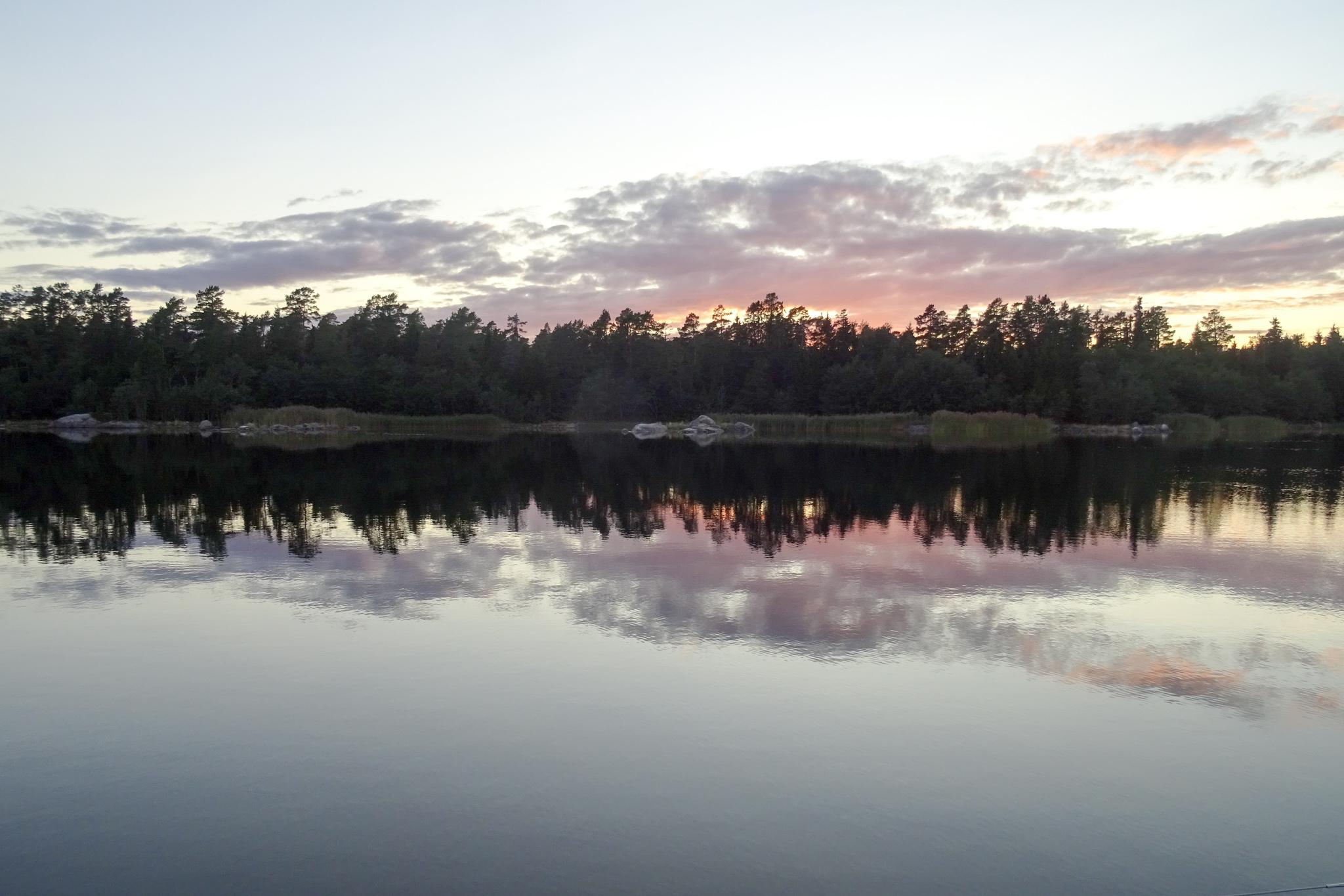 Sonnenuntergang in Agön