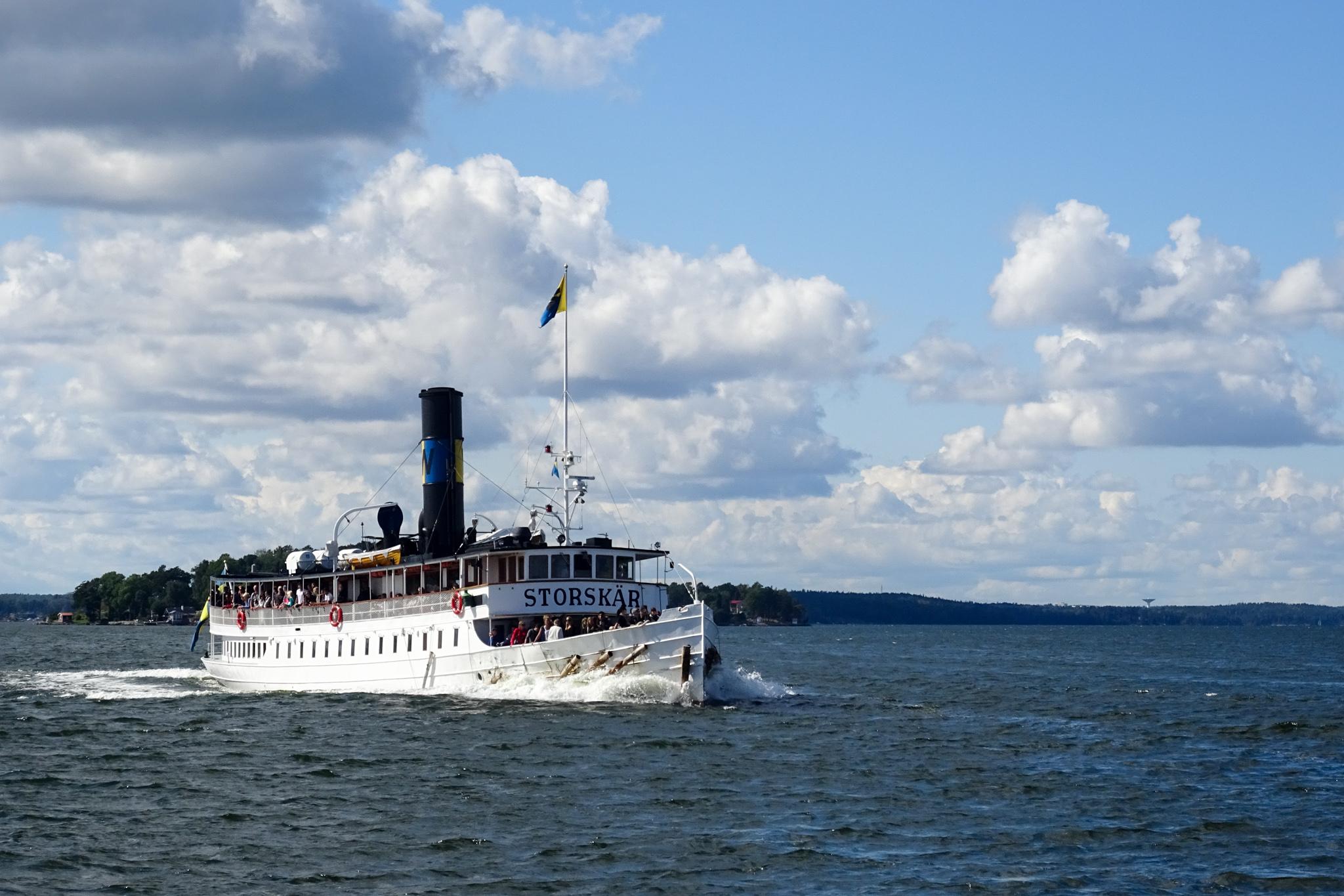 Dampfschiff unterwegs