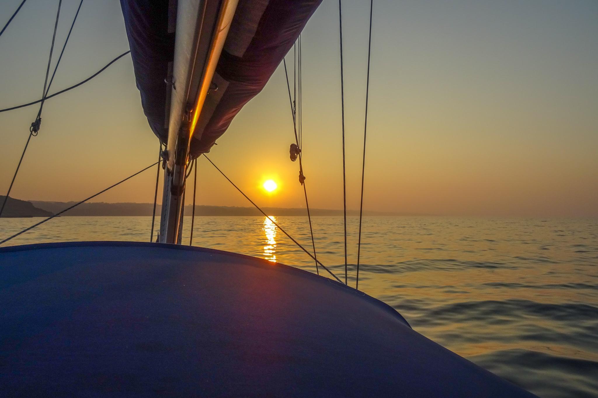 Im Sonnenuntergang nach Gudhjem