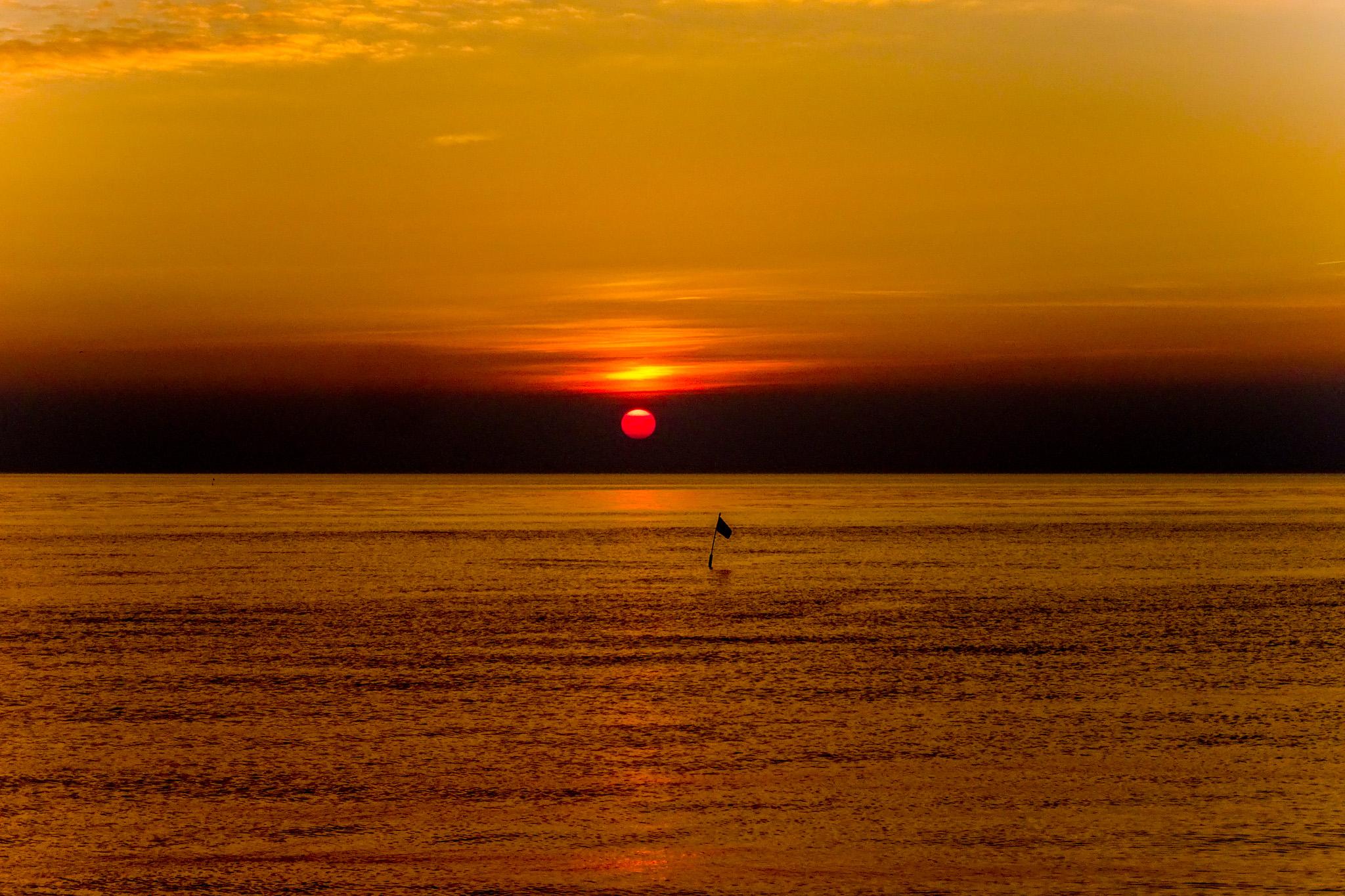 Ein stimmungsvoller Sonnenuntergang ...