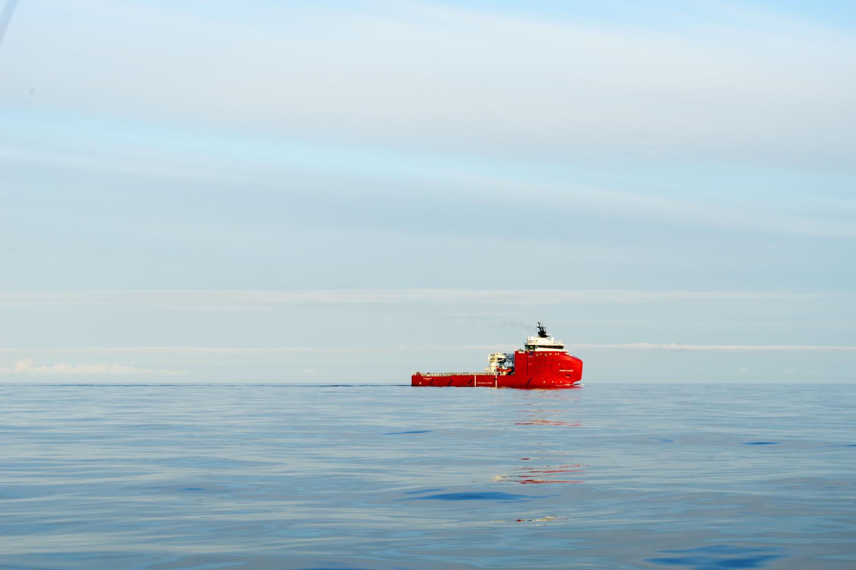 Frachter der Ölplattformen - in Höhe von Tananger