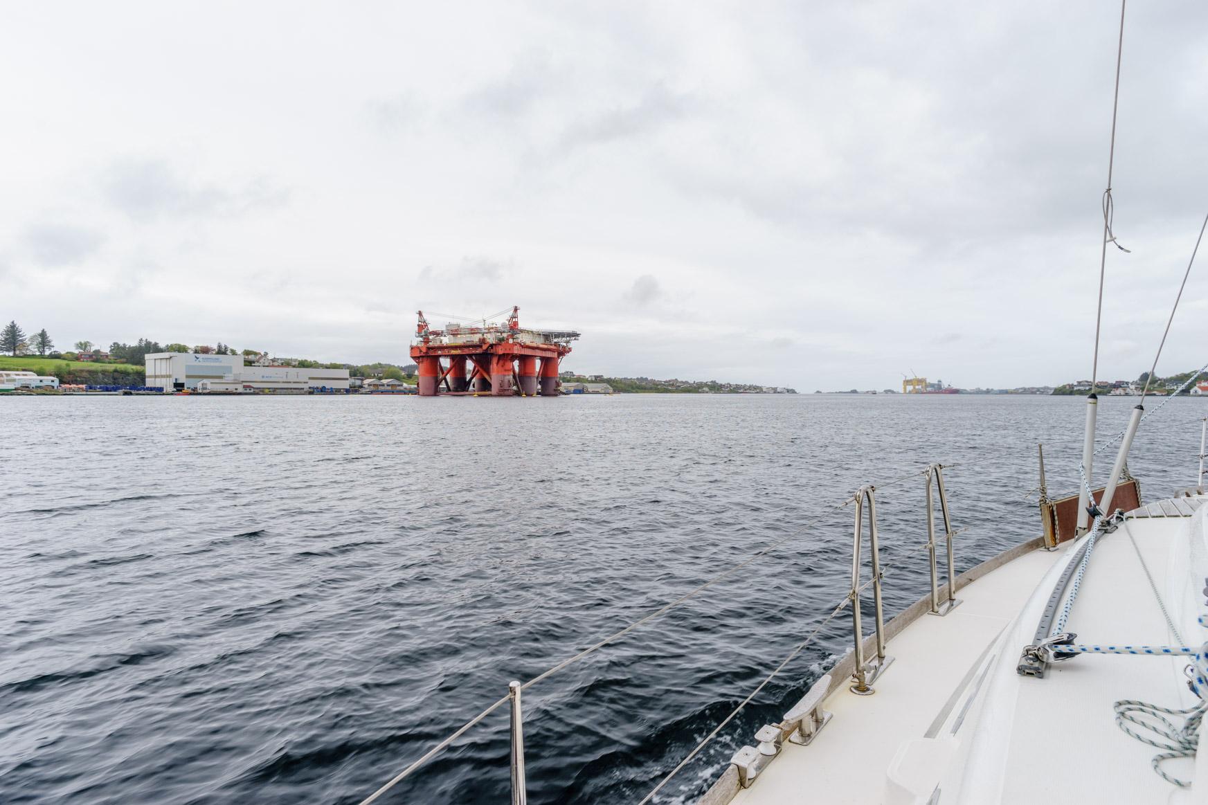 Ölplattform vor Haugesund