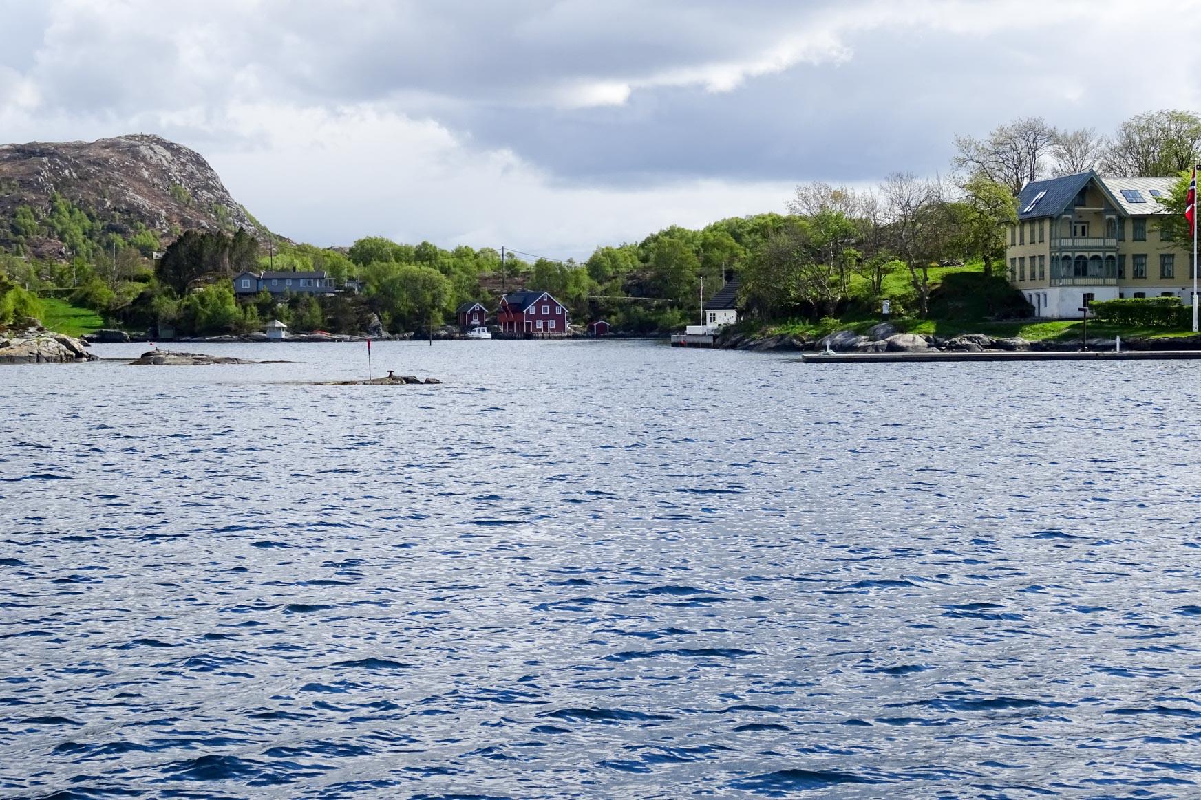 Einfahrt nach Skerjehamn