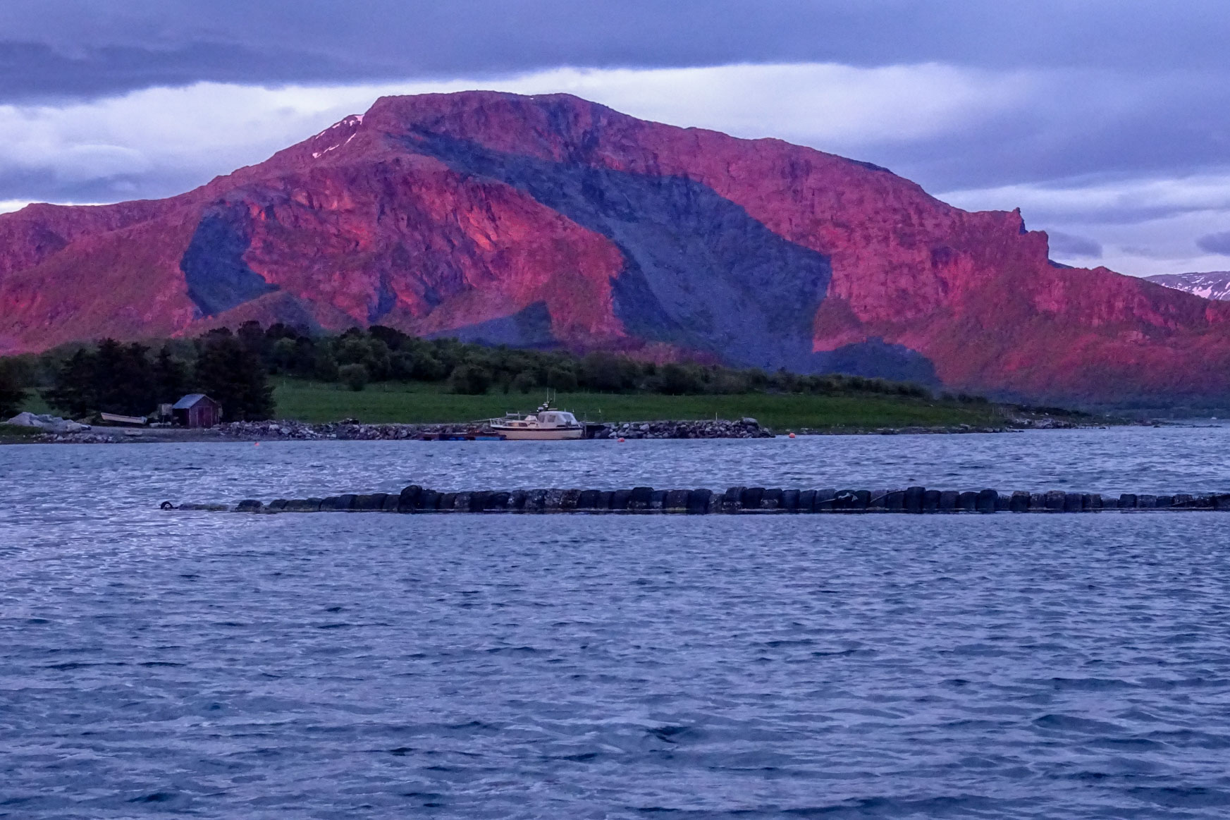 Sonnenuntergang in Moyhamna