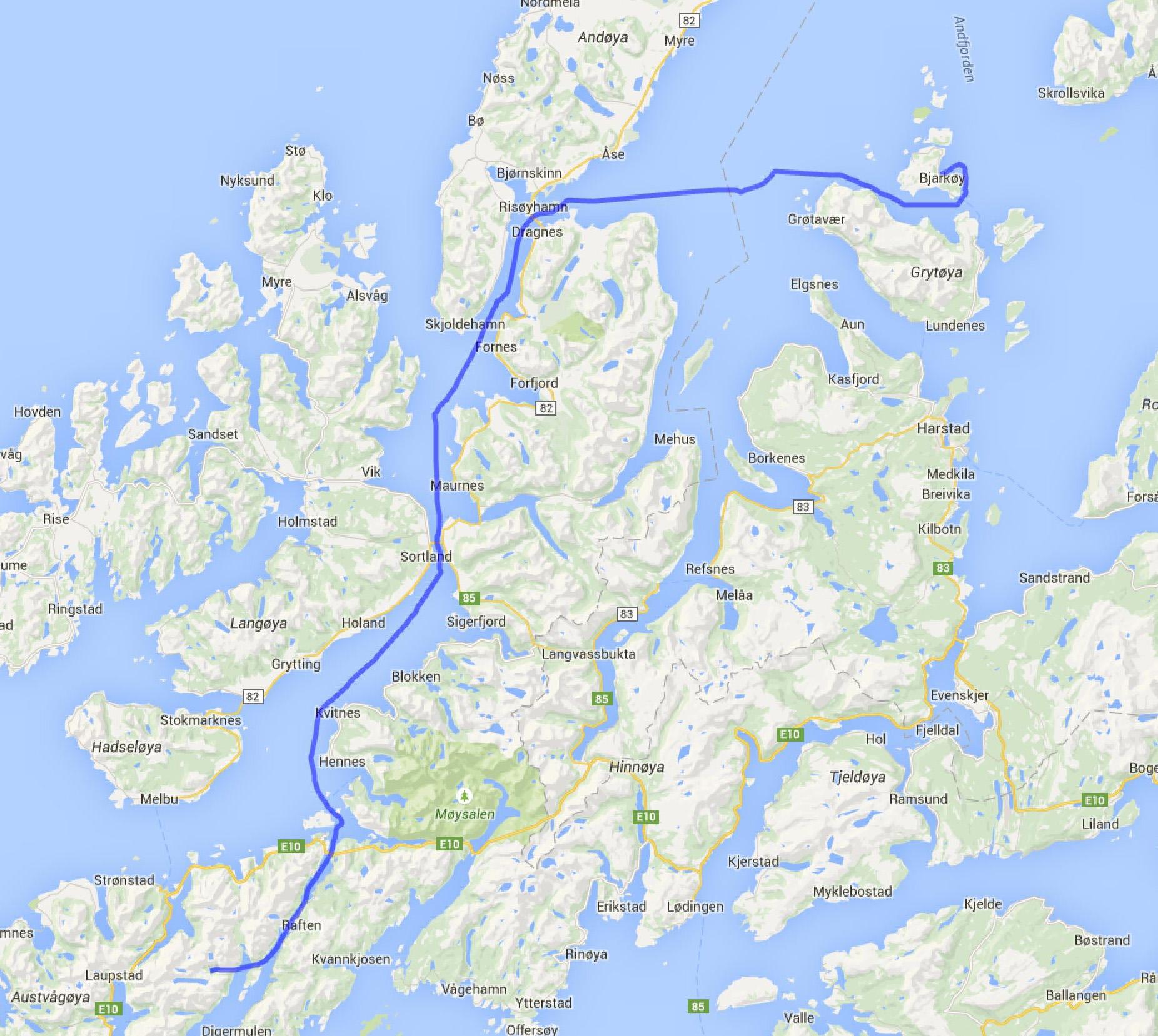 Trollfjord - Nergardsvika auf Bjarkoy