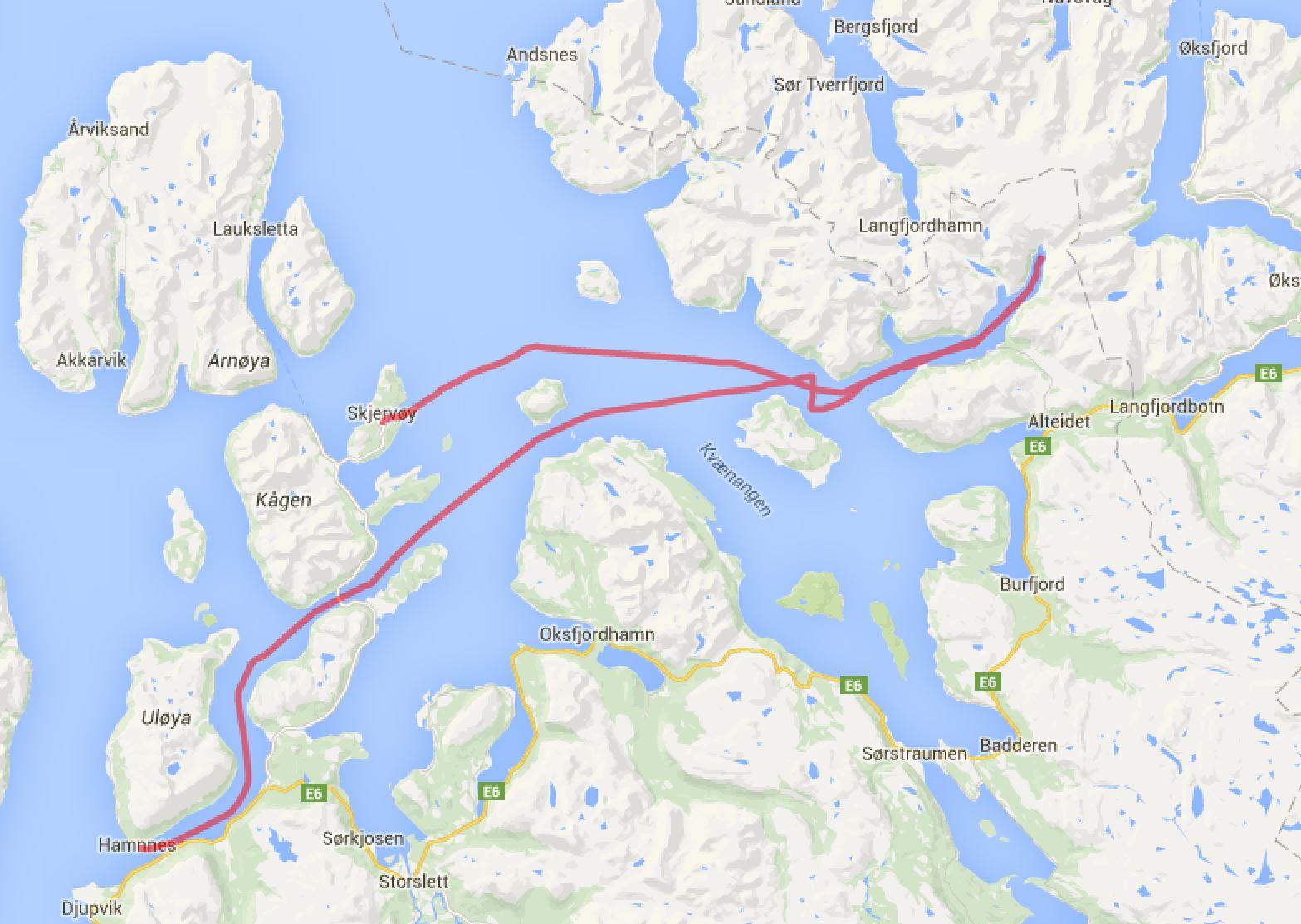 Skjervoy - Joekelfjord - Havnnes