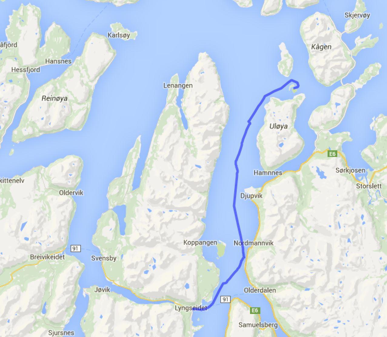 Lyngseidet - Ankerbucht Follesoyhamn