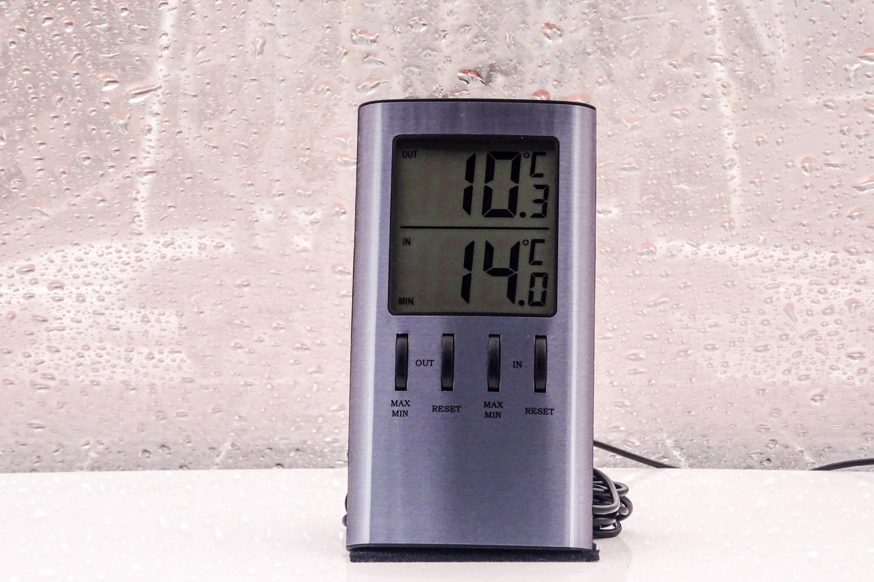 Unser neues Thermometer - das alte hat meine letzte Putzaktion nicht überstanden