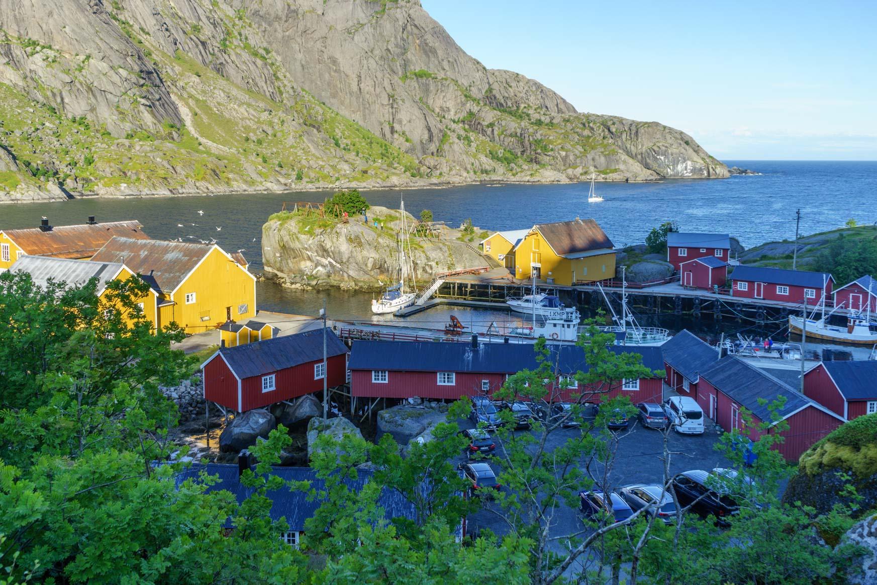 Nusfjord von oben