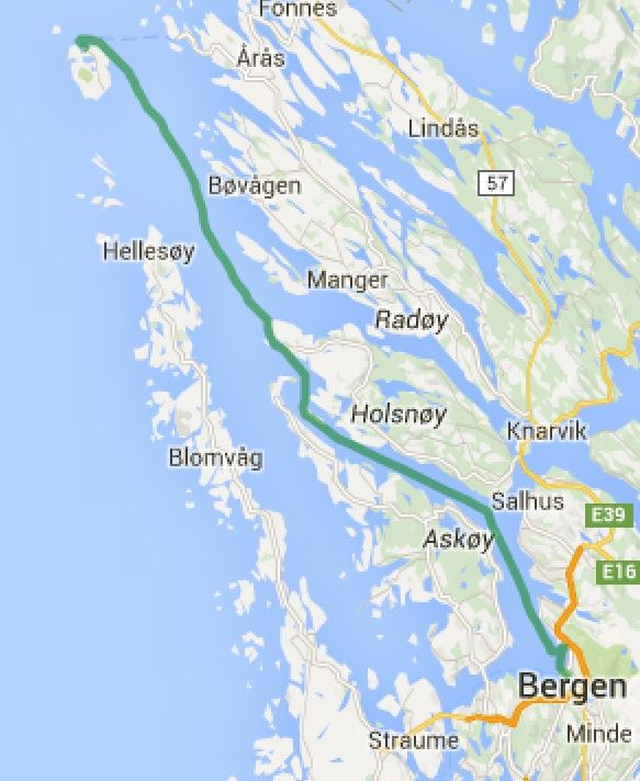 Fedje - Bergen