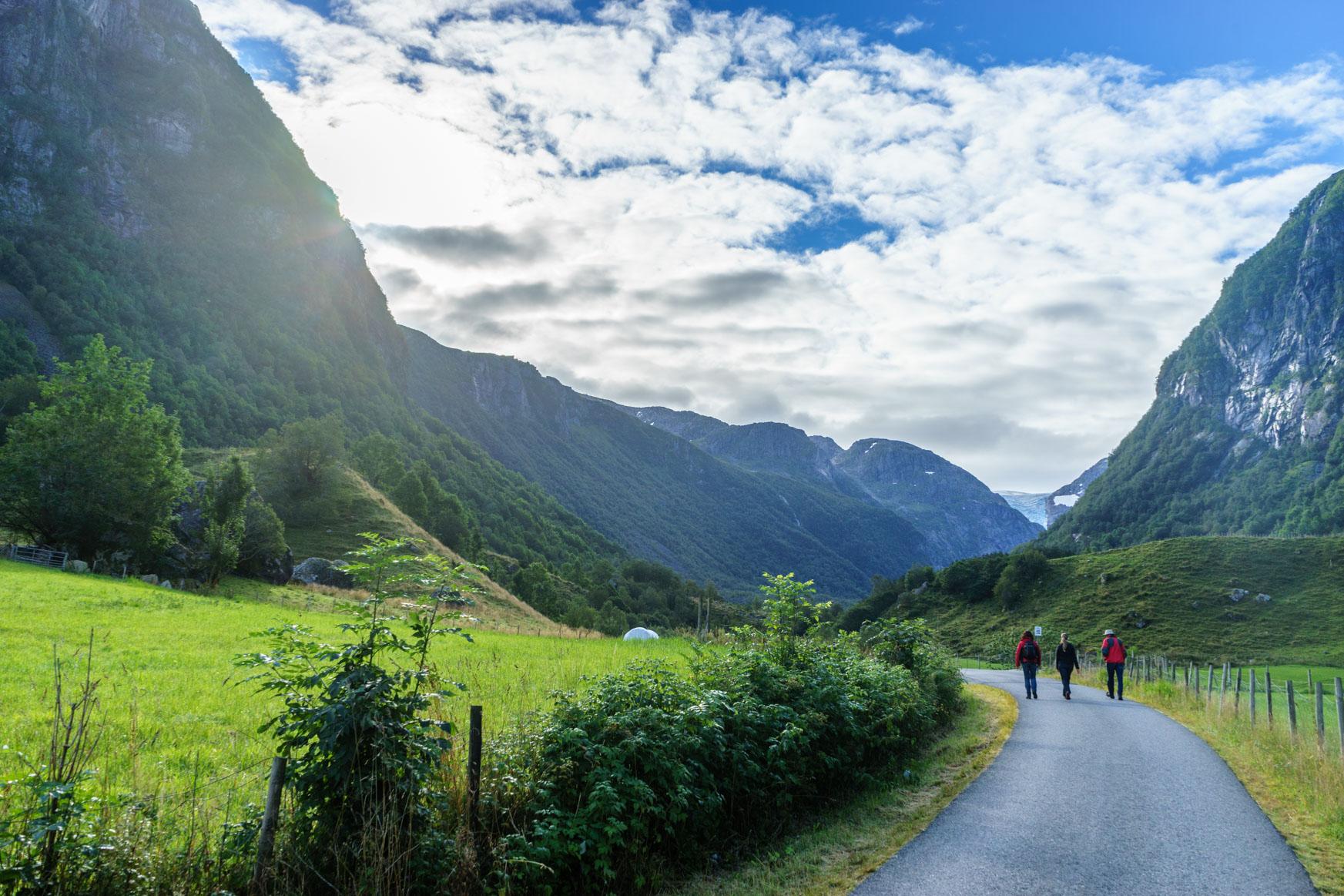 Wanderweg durch das Bondhusdalen