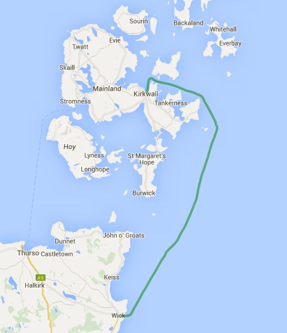 Wick - Kirkwall/Orkneys