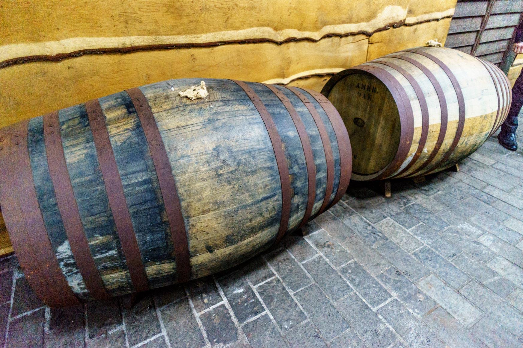 Sherry-Fässer zur Whiskylagerung
