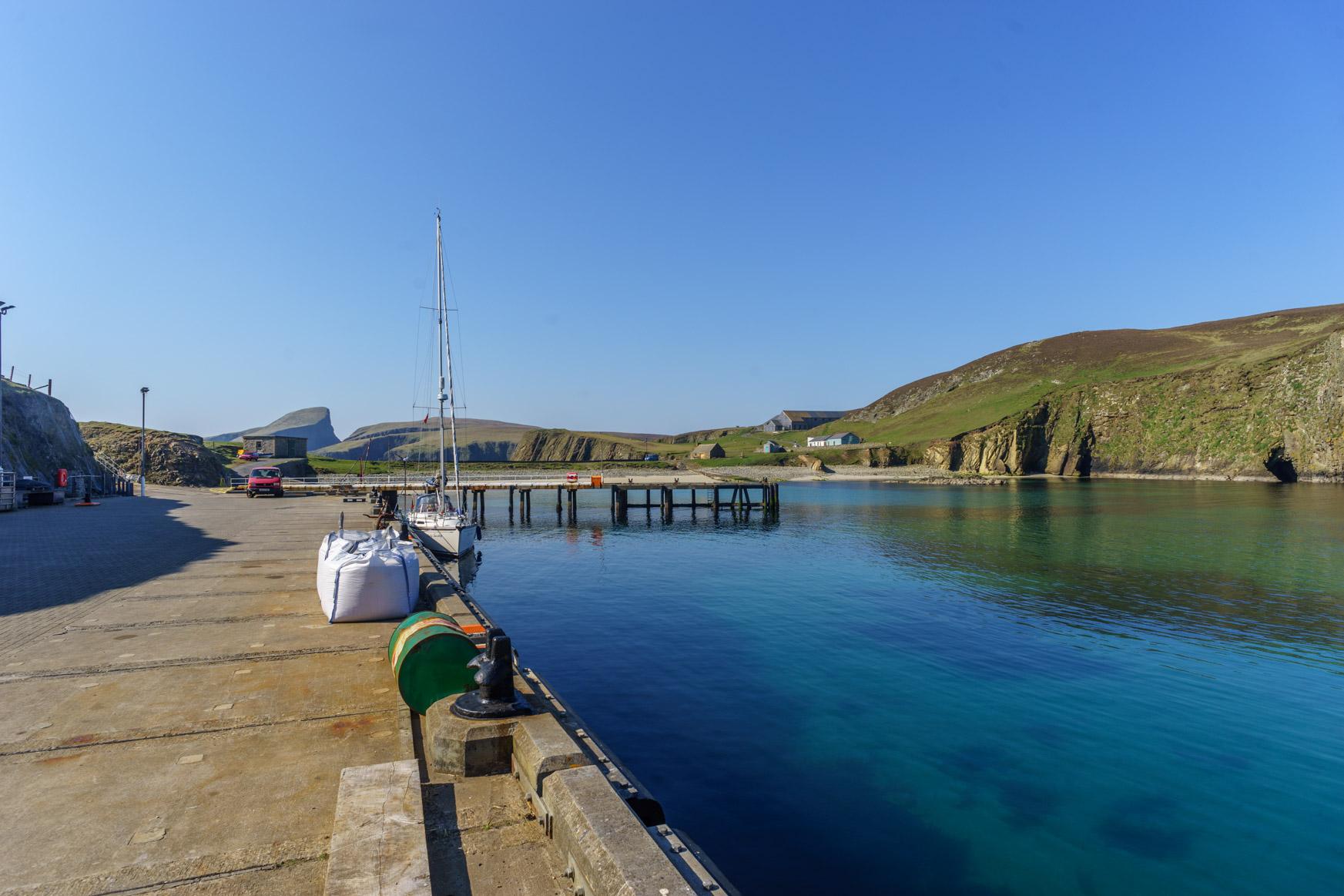 Hafen von Fair Isle