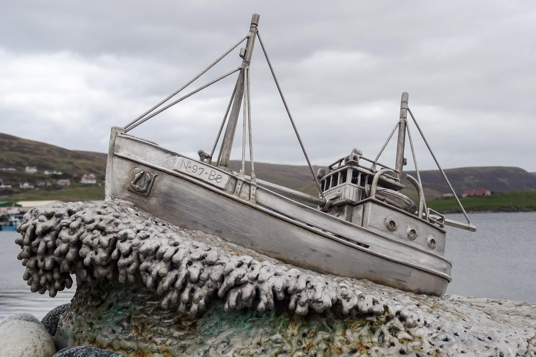Shetland Bus Denkmal