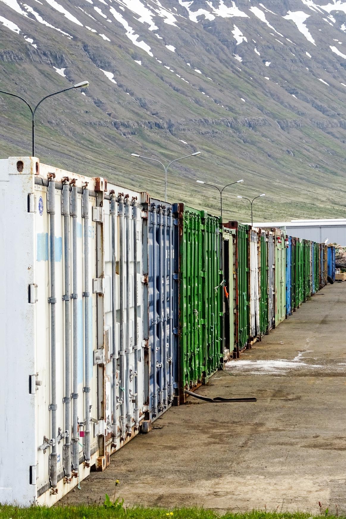 Container im Fischerhafen